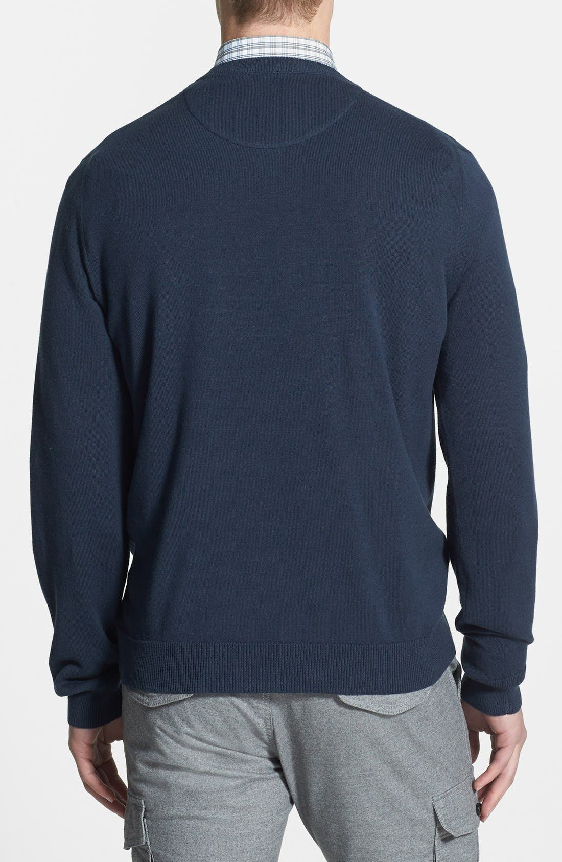 Alternate Image 2  - Nordstrom V-Neck Cotton Sweater