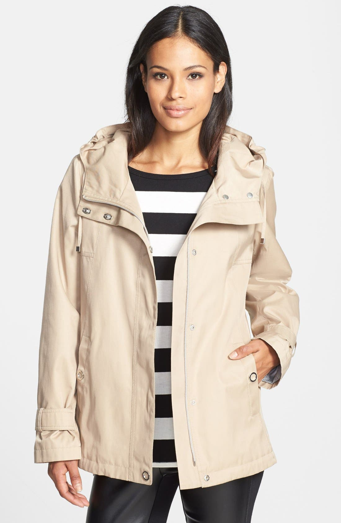 Main Image - Gallery Hooded High/Low Jacket (Online Only)
