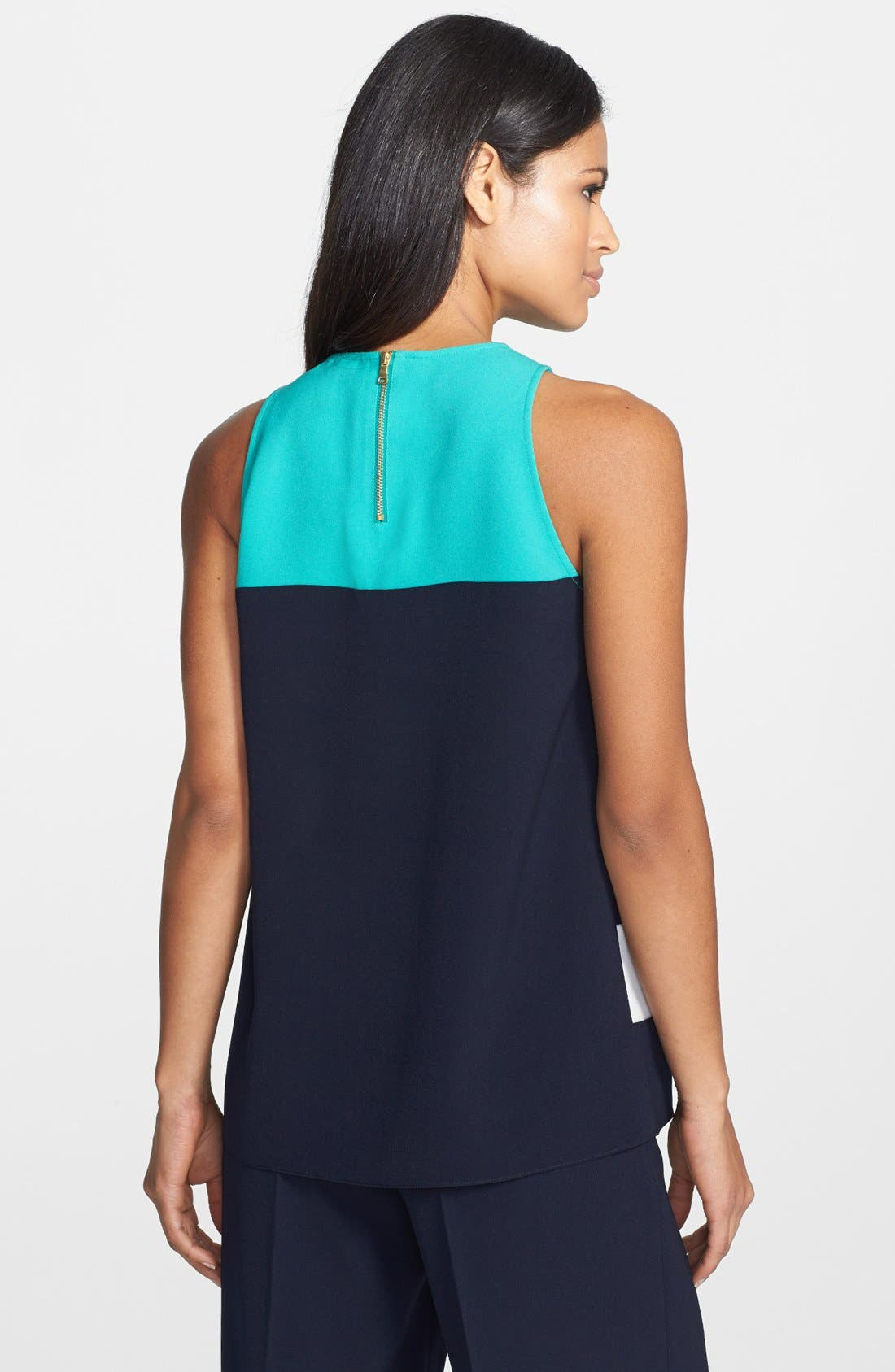 Alternate Image 2  - Adrianna Papell Colorblock Stripe Sleeveless Shell