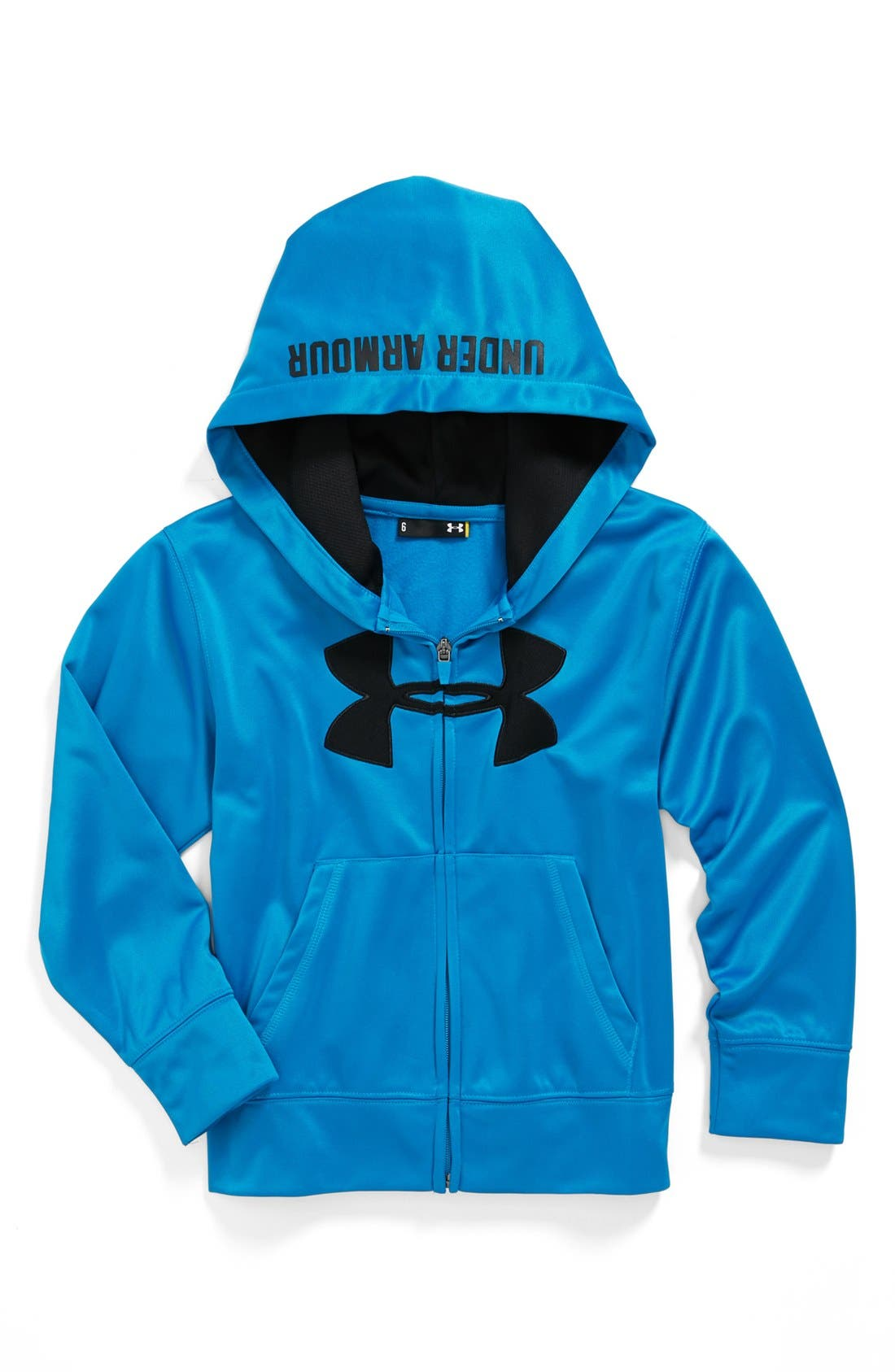 Main Image - Under Armour 'Big Logo' Hoodie (Little Boys)