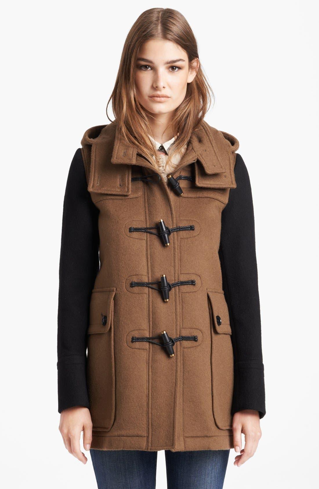 Alternate Image 1 Selected - Burberry Brit 'Westmarsh' Wool Duffle Coat
