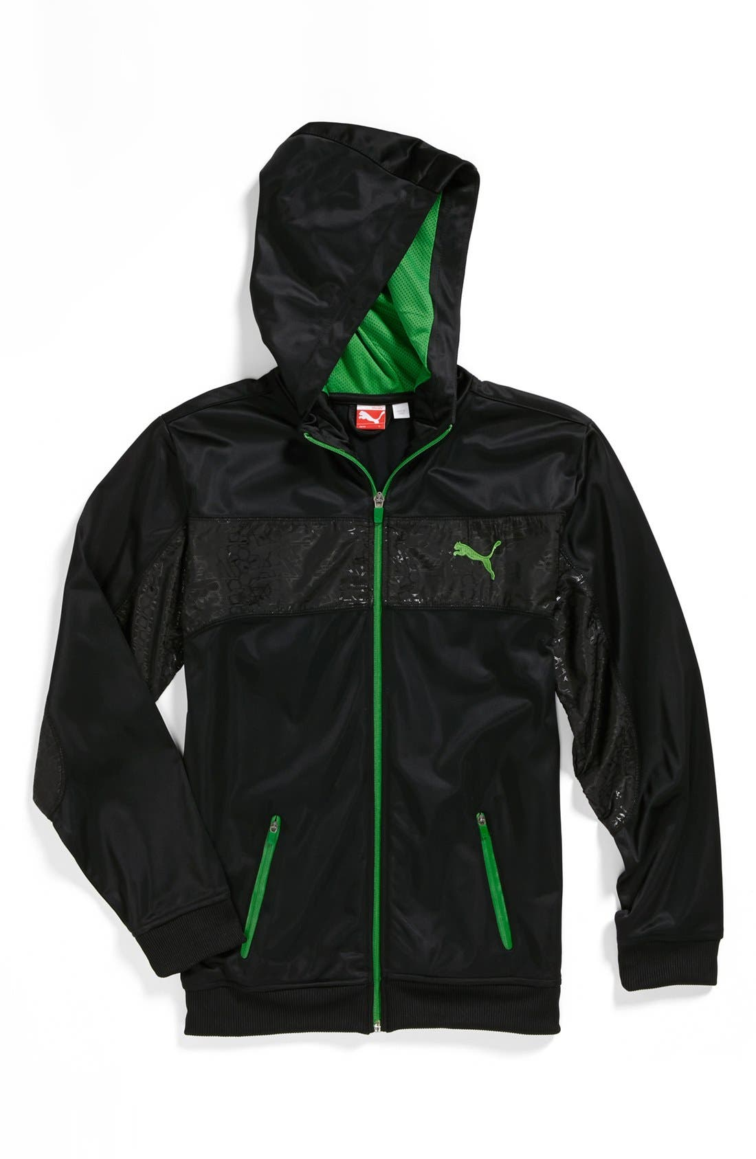 Alternate Image 1 Selected - PUMA Tricot Hooded Jacket (Big Boys)