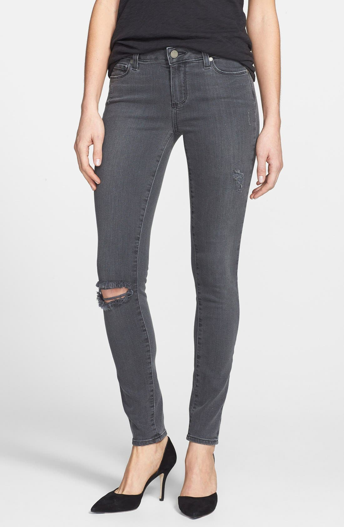 Main Image - Paige Denim 'Verdugo' Distressed Ultra Skinny Jeans (Kate Destructive)