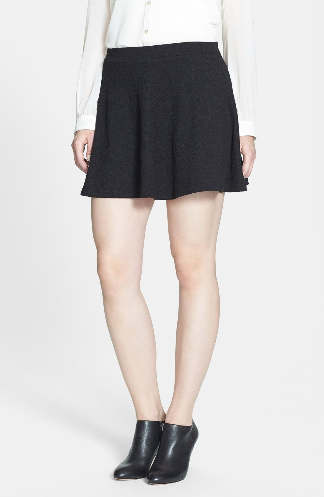 Main Image - Research & Design Jacquard Ponte Skater Skirt