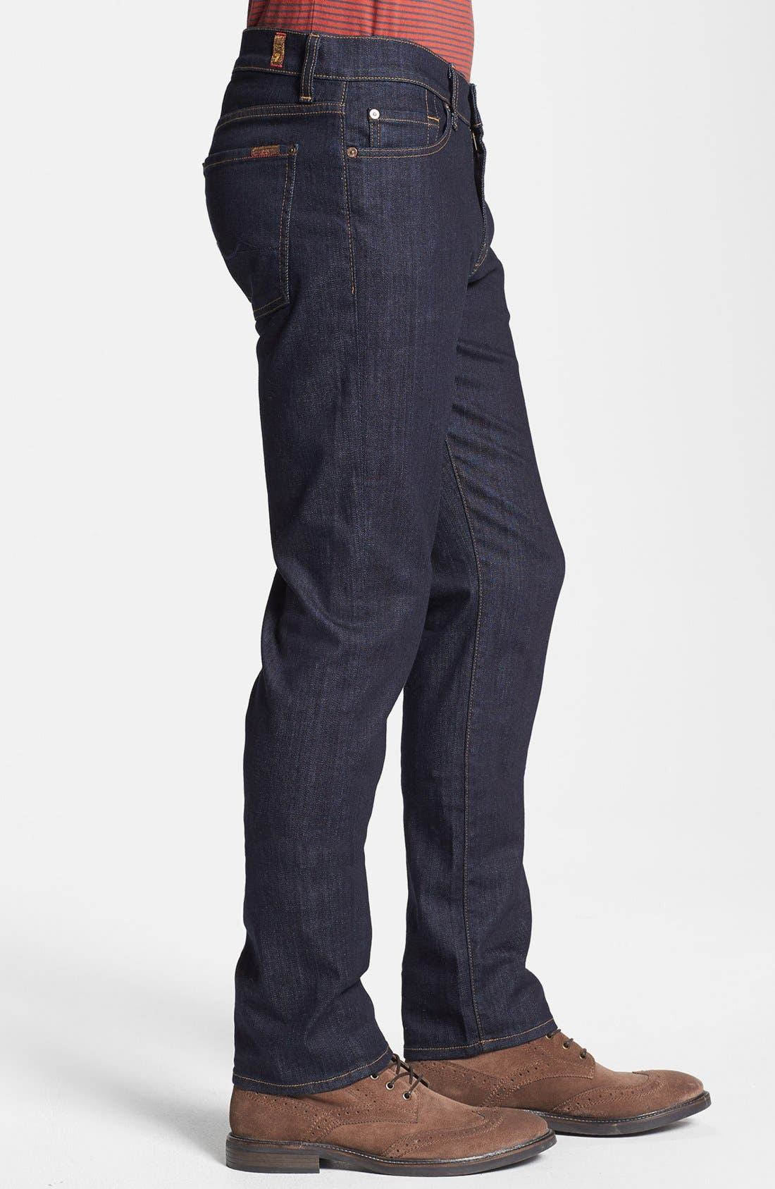 Alternate Image 3  - 7 For All Mankind® 'Slimmy' Slim Fit Jeans (Dark & Clean)