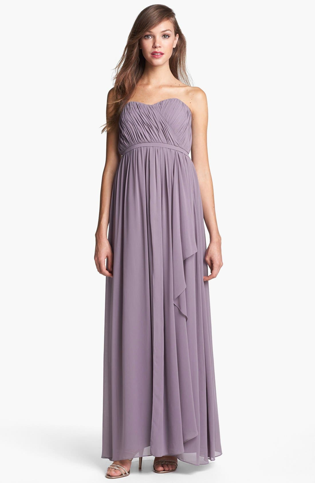 Alternate Image 1  - Donna Morgan 'Lily' Draped Chiffon Dress