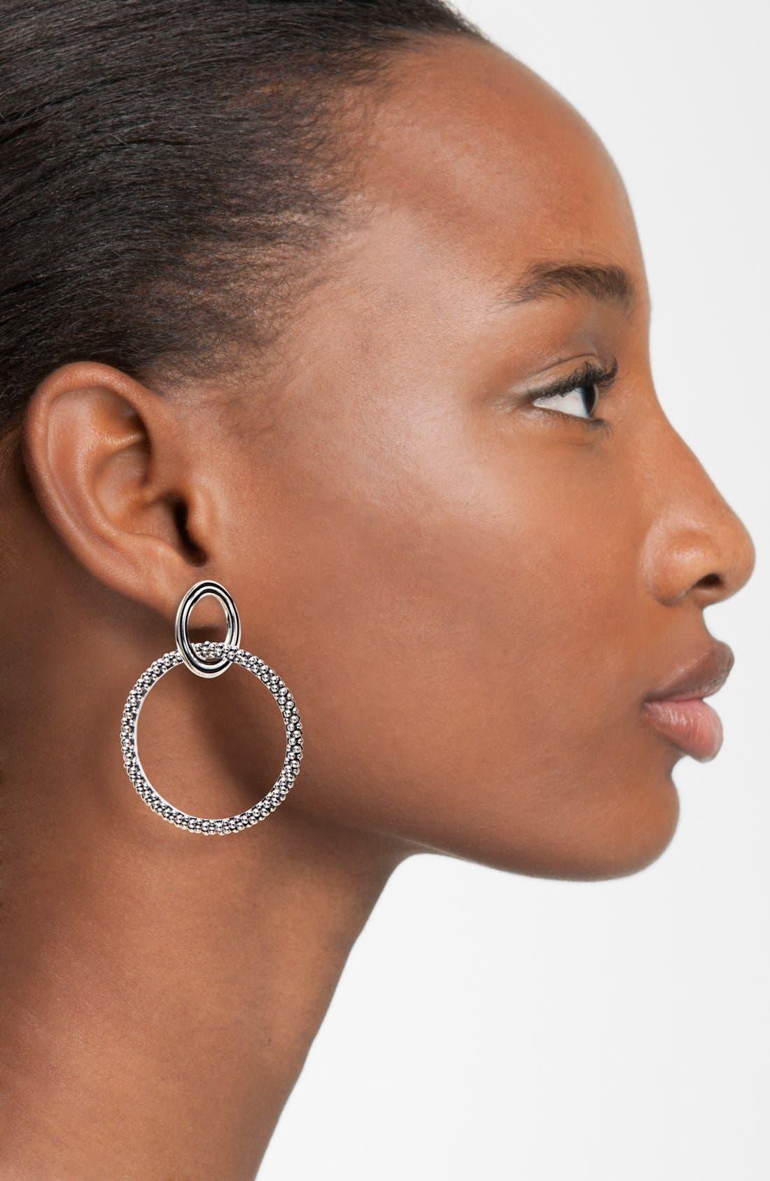 Alternate Image 2  - LAGOS Caviar Double Circle Drop Earrings