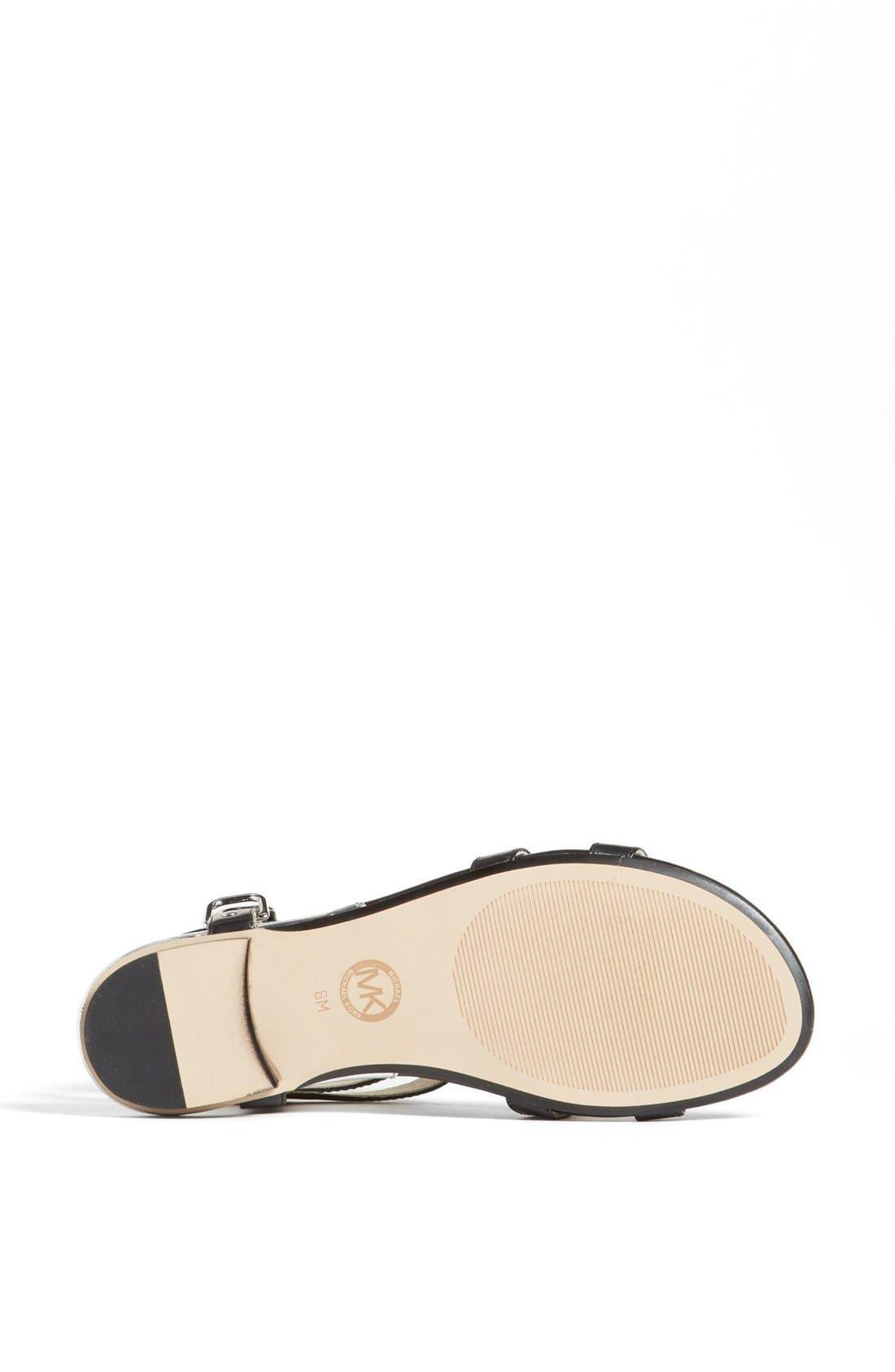 Alternate Image 4  - MICHAEL Michael Kors 'Kennedy' Flat Leather Gladiator Sandal