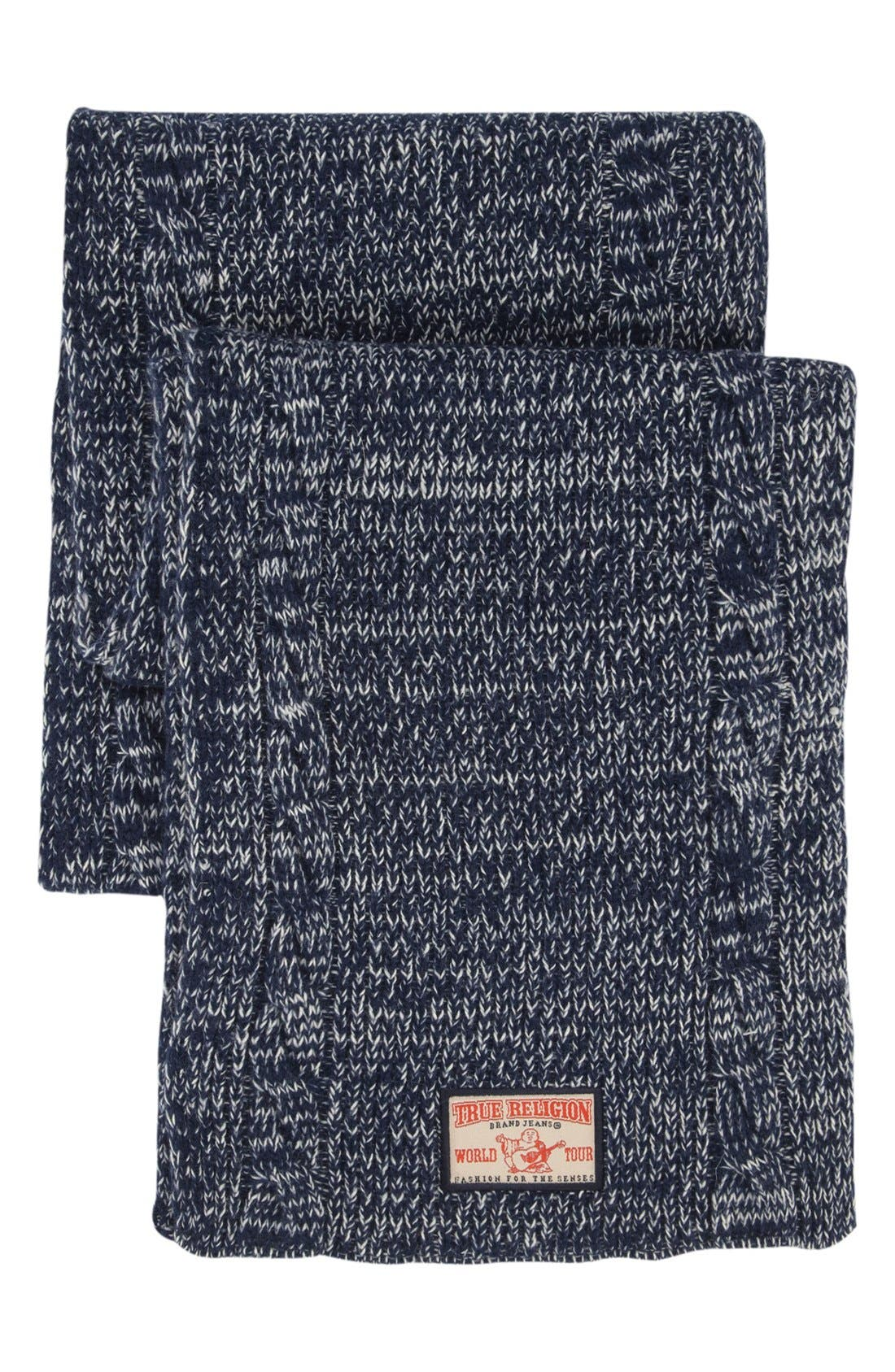 Alternate Image 1 Selected - True Religion Brand Jeans Marled Two Tone Knit Scarf