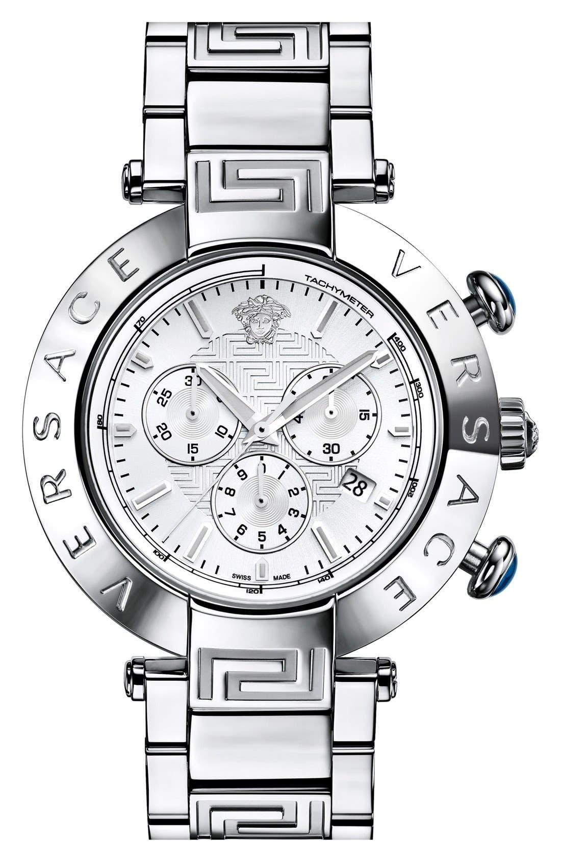 Main Image - Versace 'Reve Chrono' Bracelet Watch, 46mm