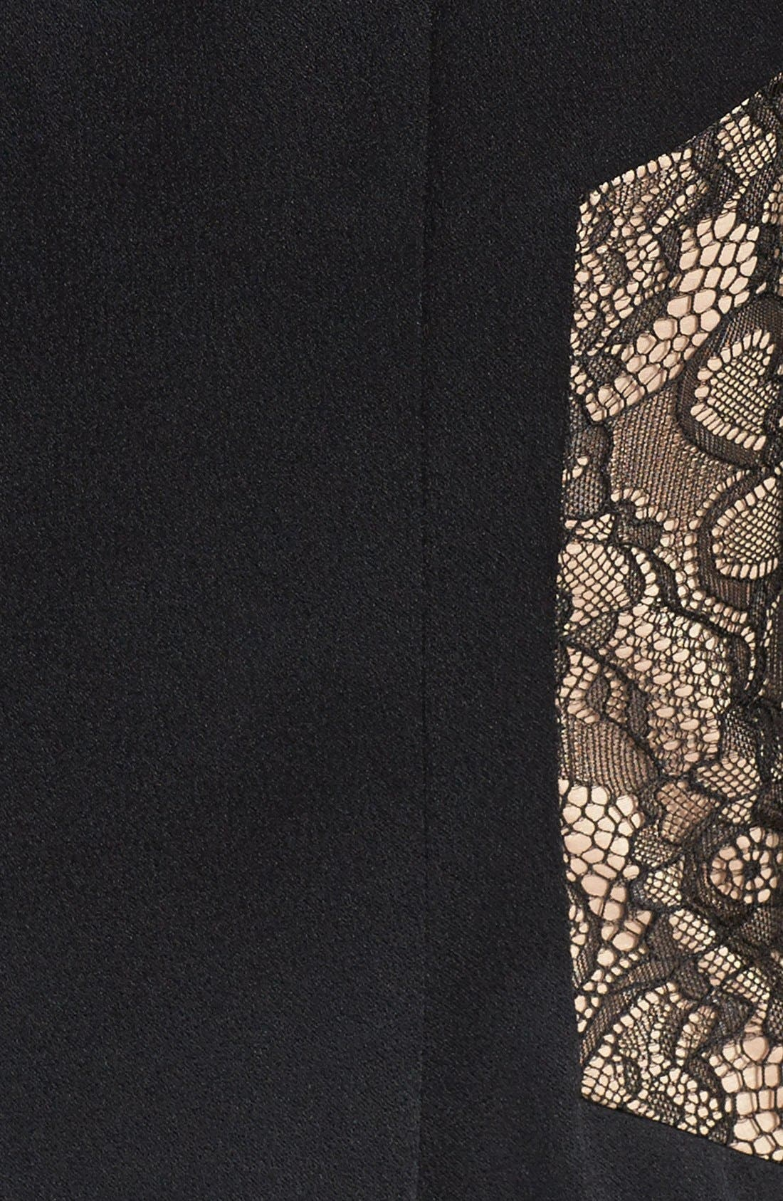 Alternate Image 3  - Aidan by Aidan Mattox Lace & Stretch Satin Sheath Dress