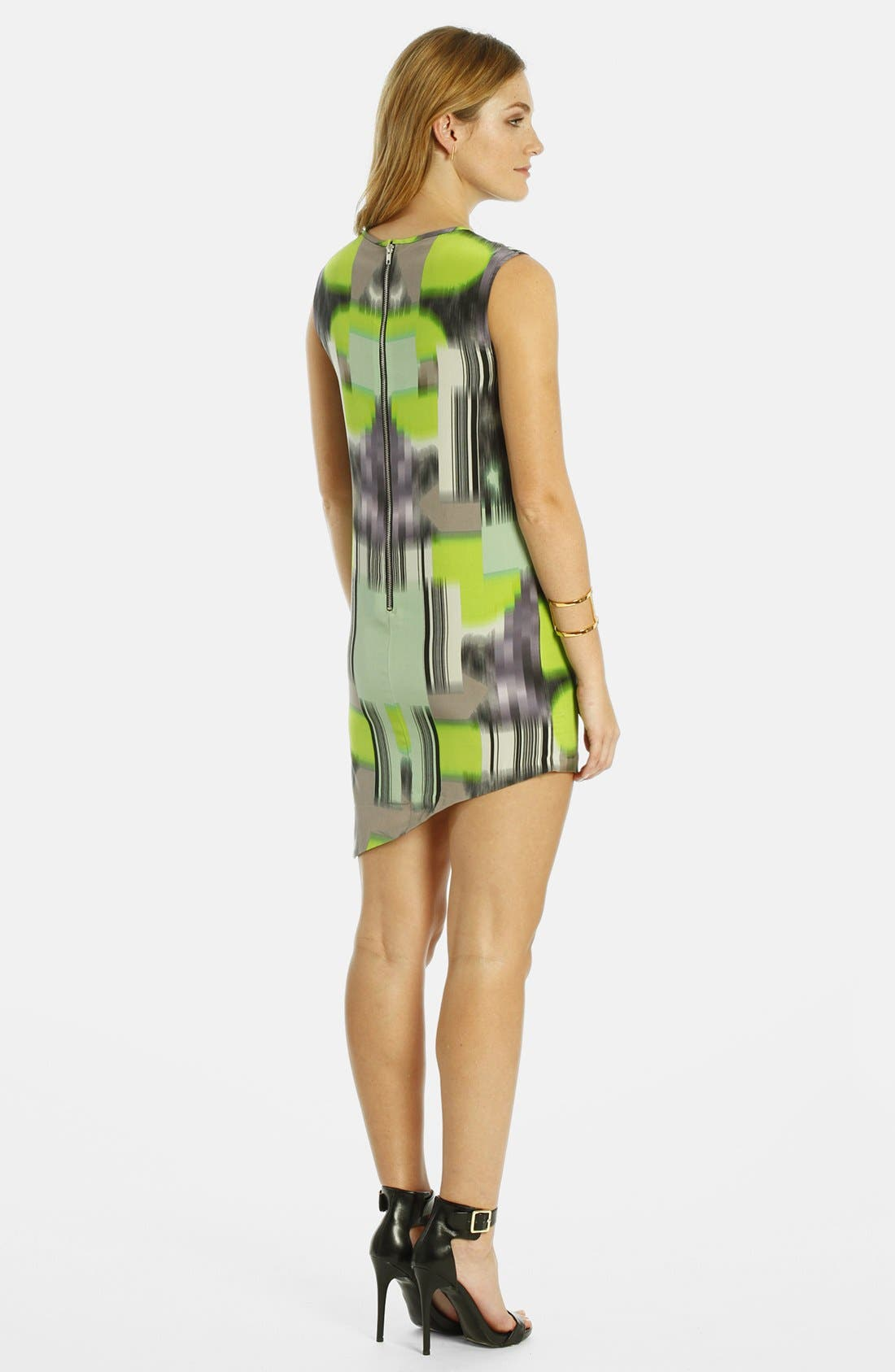 Alternate Image 2  - LABEL by five twelve Print Asymmetrical Hem Dress