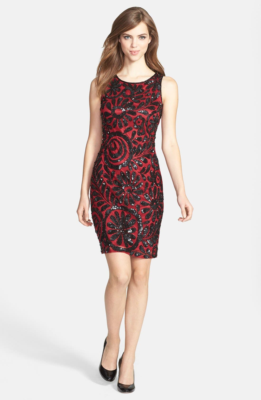 Main Image - Pisarro Nights Sequin Sheath Dress