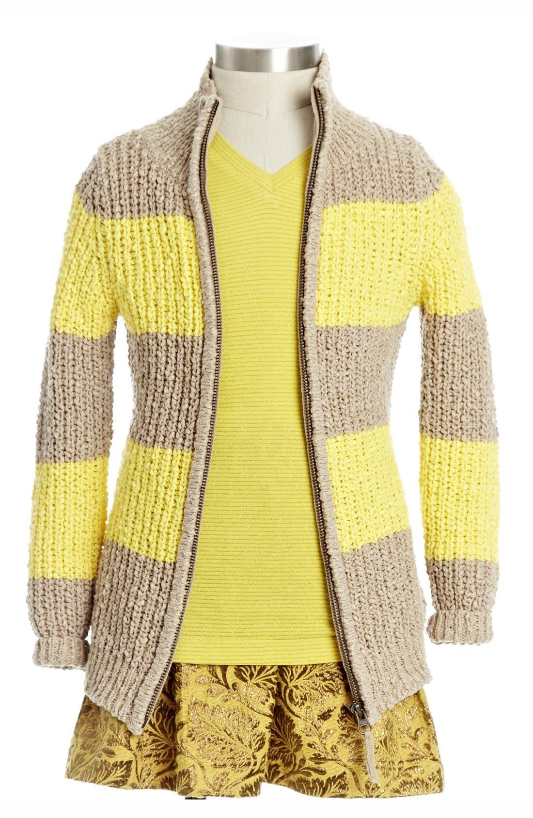 Alternate Image 1 Selected - Peek 'Vienna' Knit Sweater(Toddler Girls, Little Girls & Big Girls)