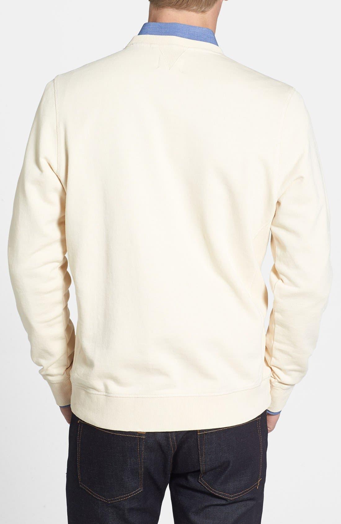 Alternate Image 2  - AG French Terry Crewneck Sweatshirt