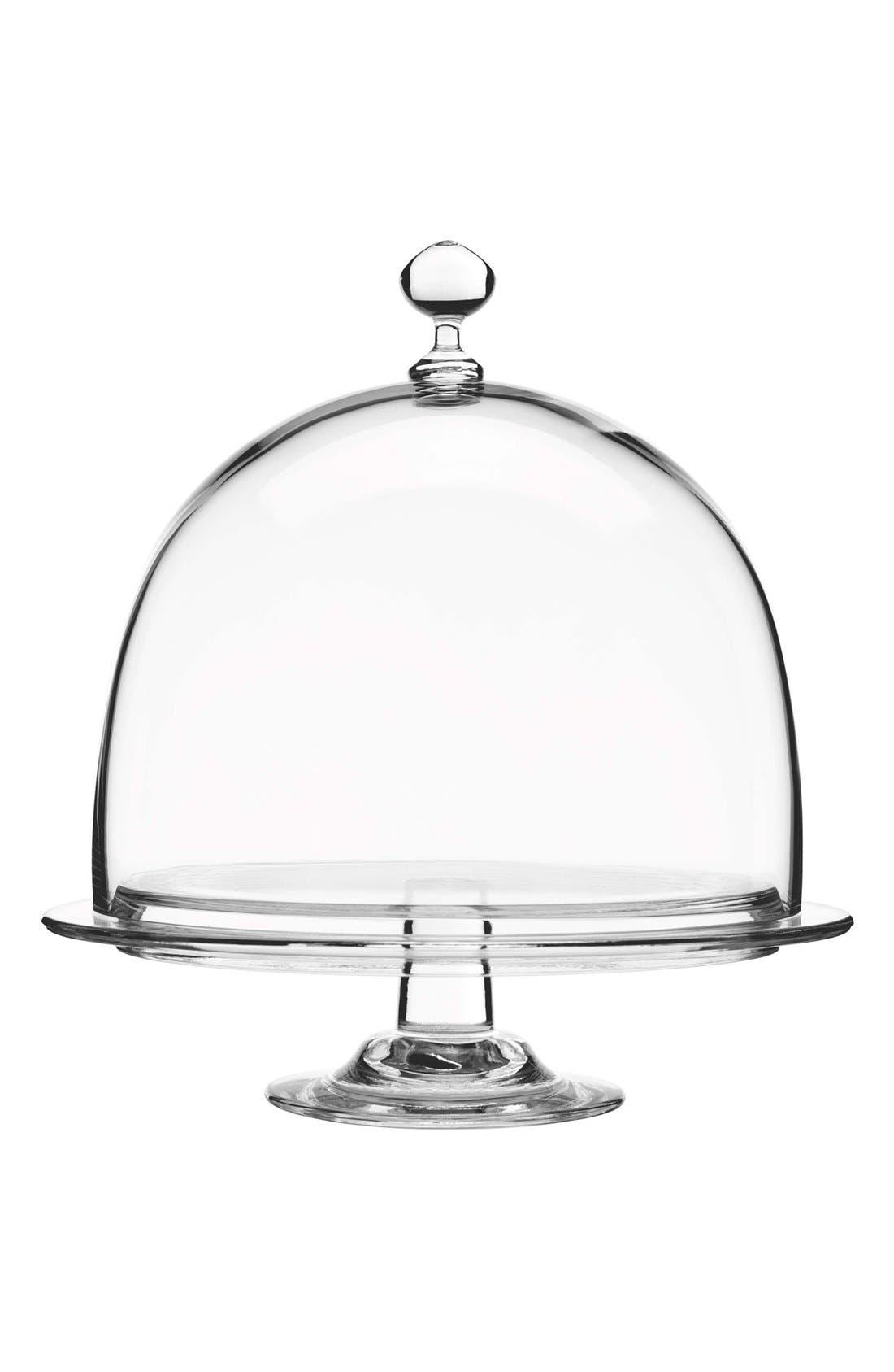Main Image - Luigi Bormioli 'Crescendo' Footed Cake Plate & Dome