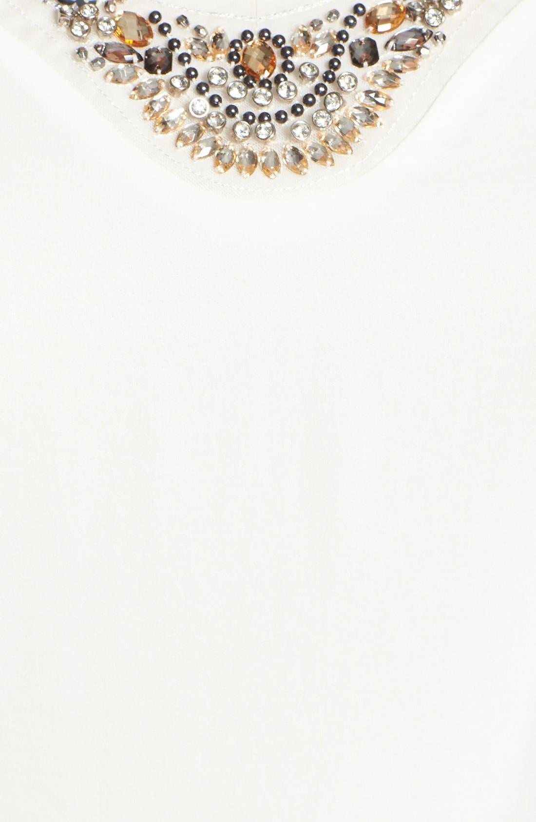 Alternate Image 3  - Evans Embellished Chiffon Blouse (Plus Size)