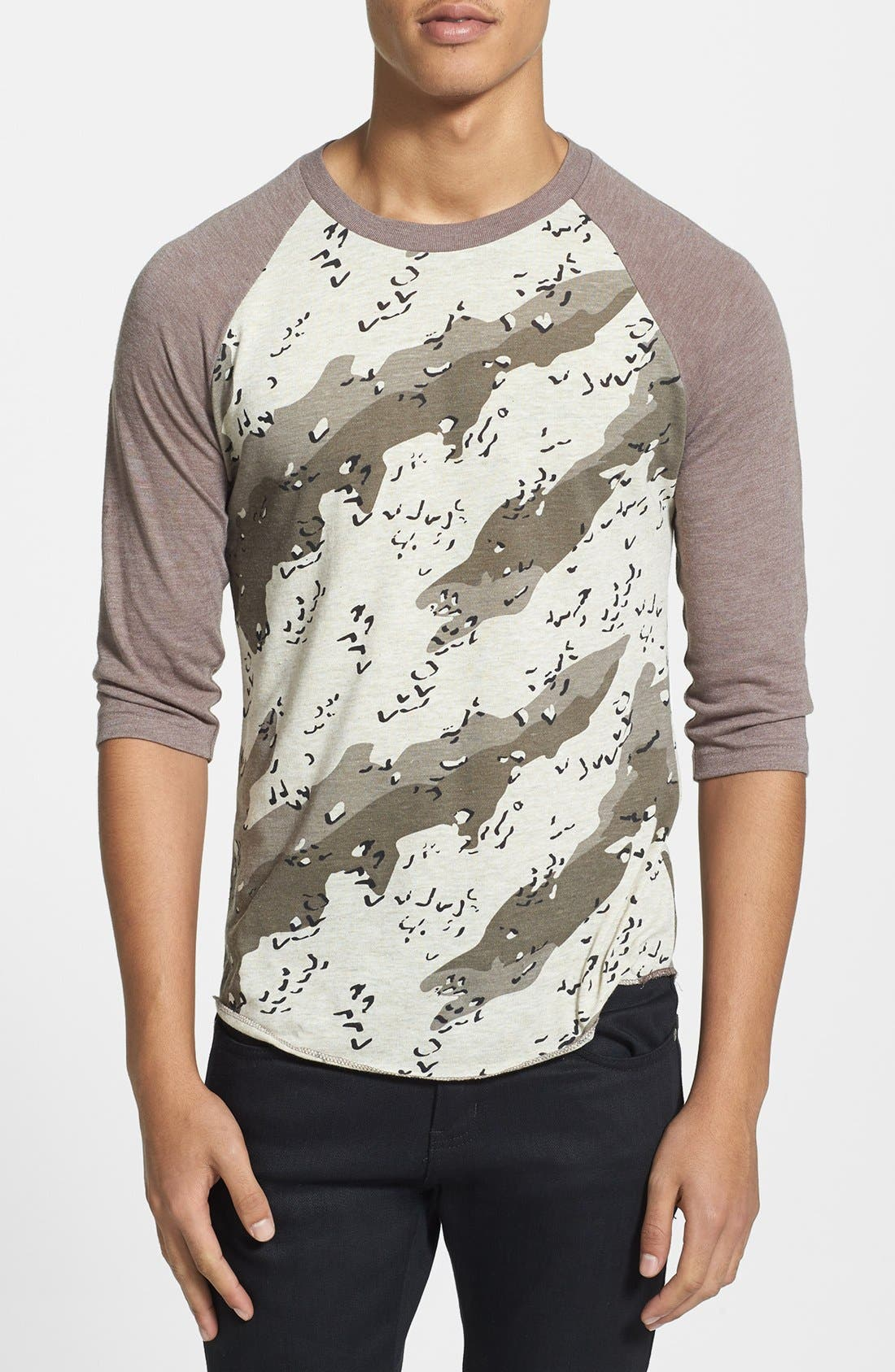 Alternate Image 1 Selected - Alternative Camo Baseball T-Shirt