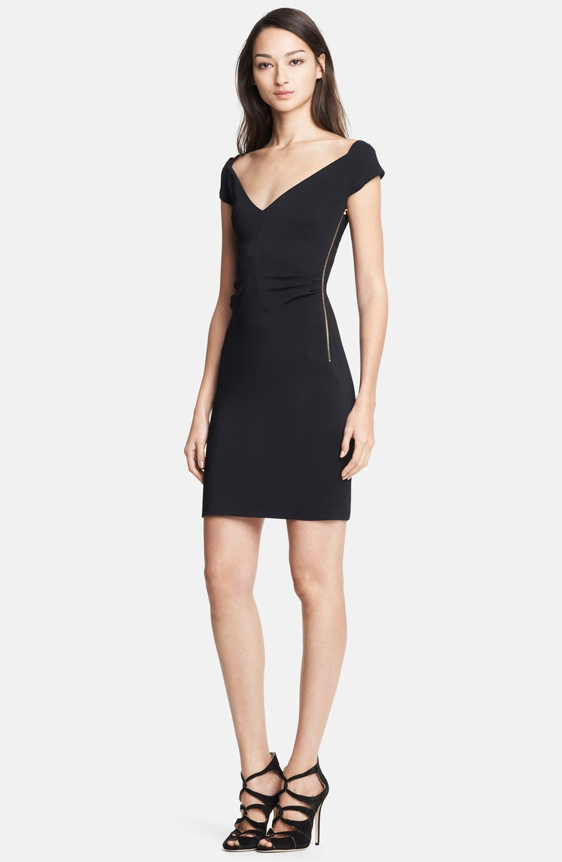 Alternate Image 1 Selected - Emilio Pucci Side Zip Stretch Cady Dress