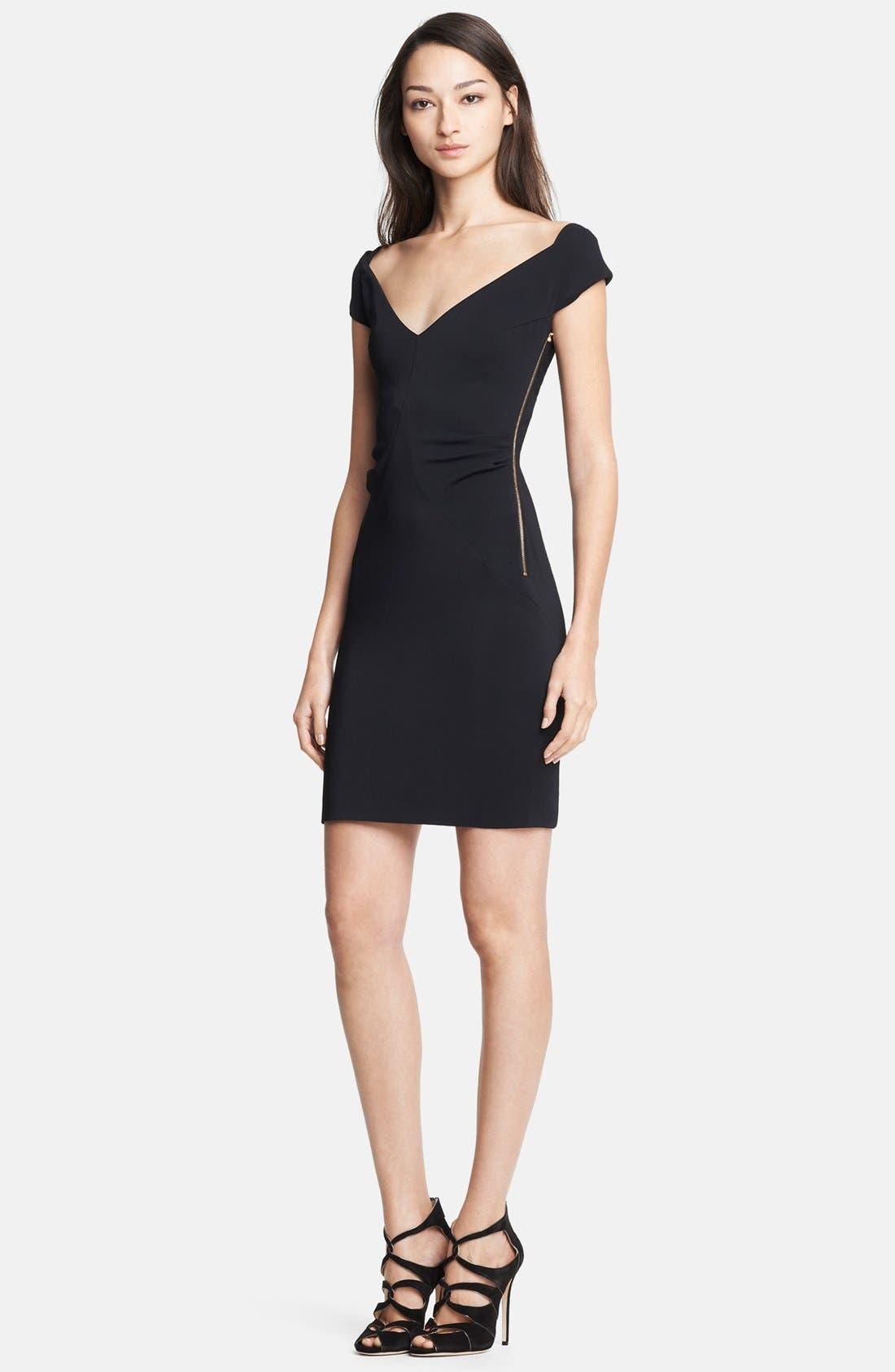 Main Image - Emilio Pucci Side Zip Stretch Cady Dress