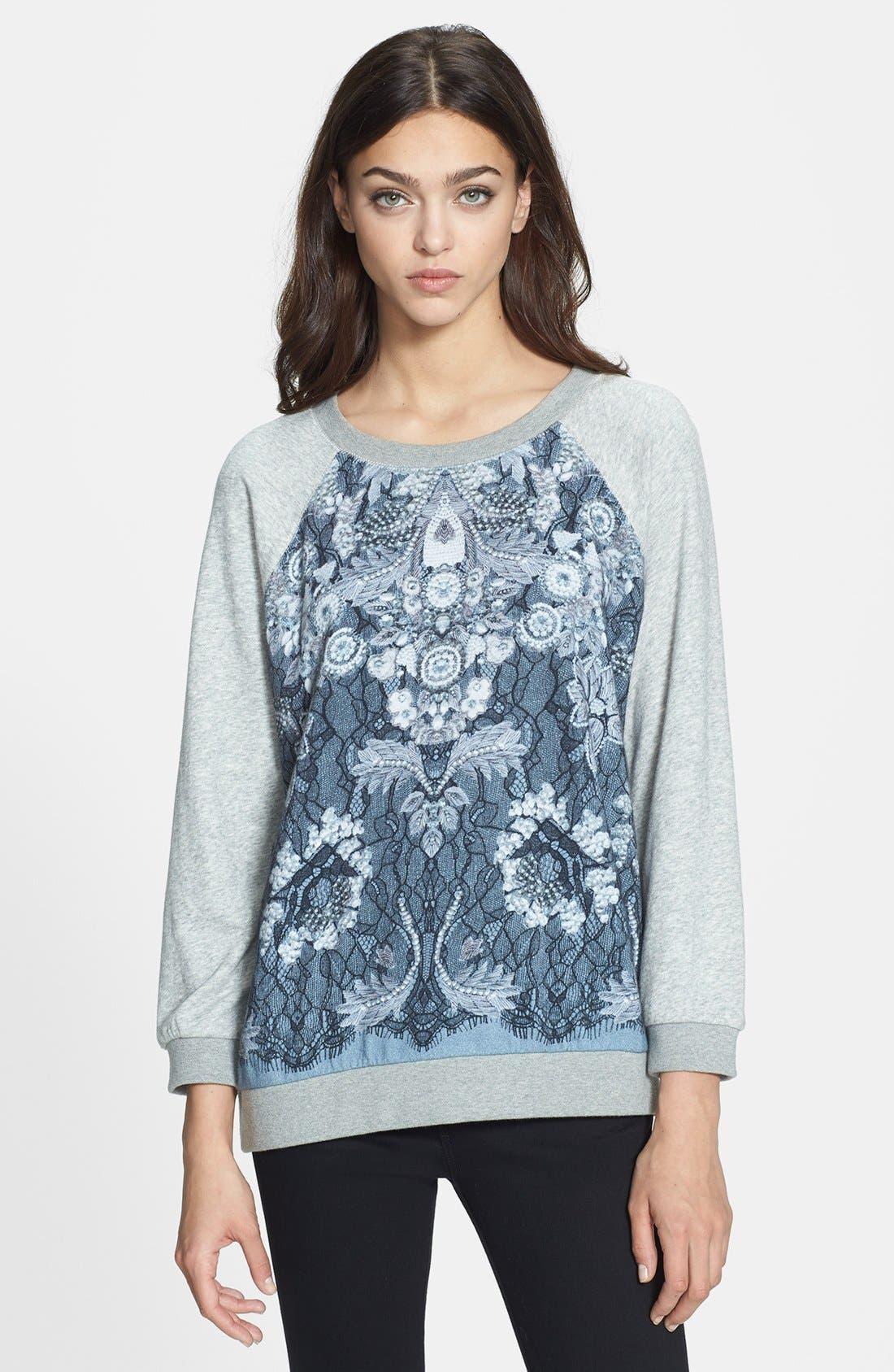 Alternate Image 1 Selected - MARC BY MARC JACOBS 'Lena' Print Cotton Sweatshirt