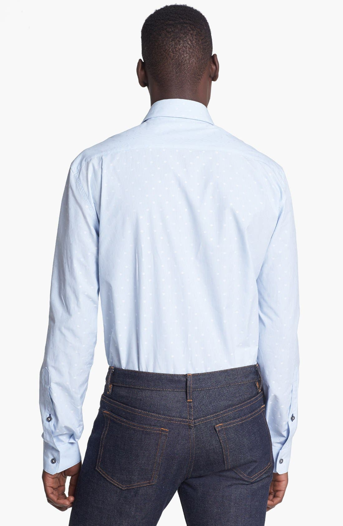 Alternate Image 2  - Paul Smith London Slim Fit Dot Stripe Dress Shirt
