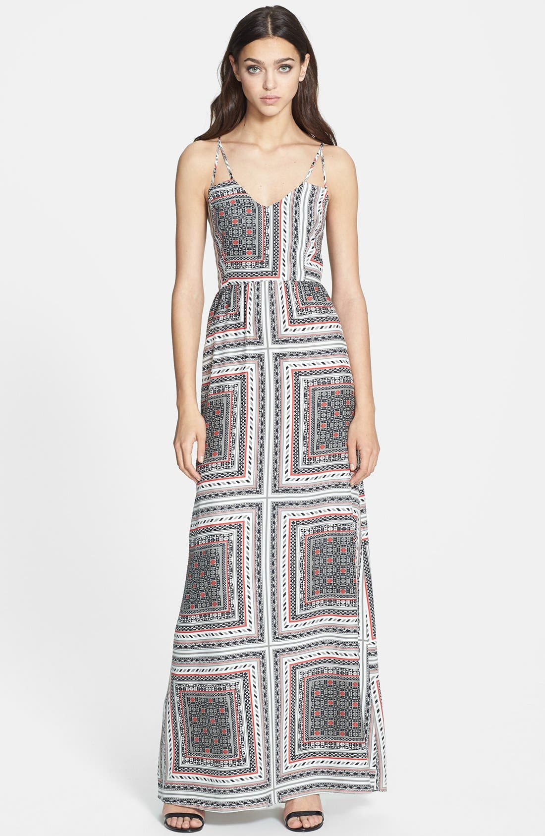 Alternate Image 1 Selected - Parker 'Kisa' Print Silk Maxi Dress