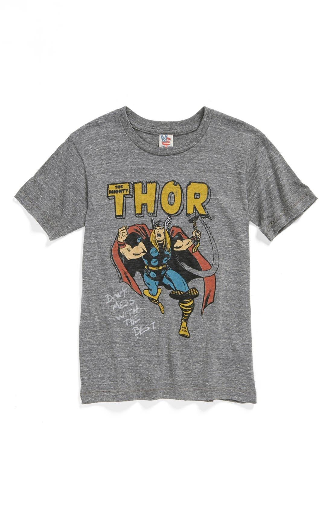Alternate Image 1 Selected - Junk Food 'Thor' T-Shirt (Toddler Boys, Little Boys & Big Boys)