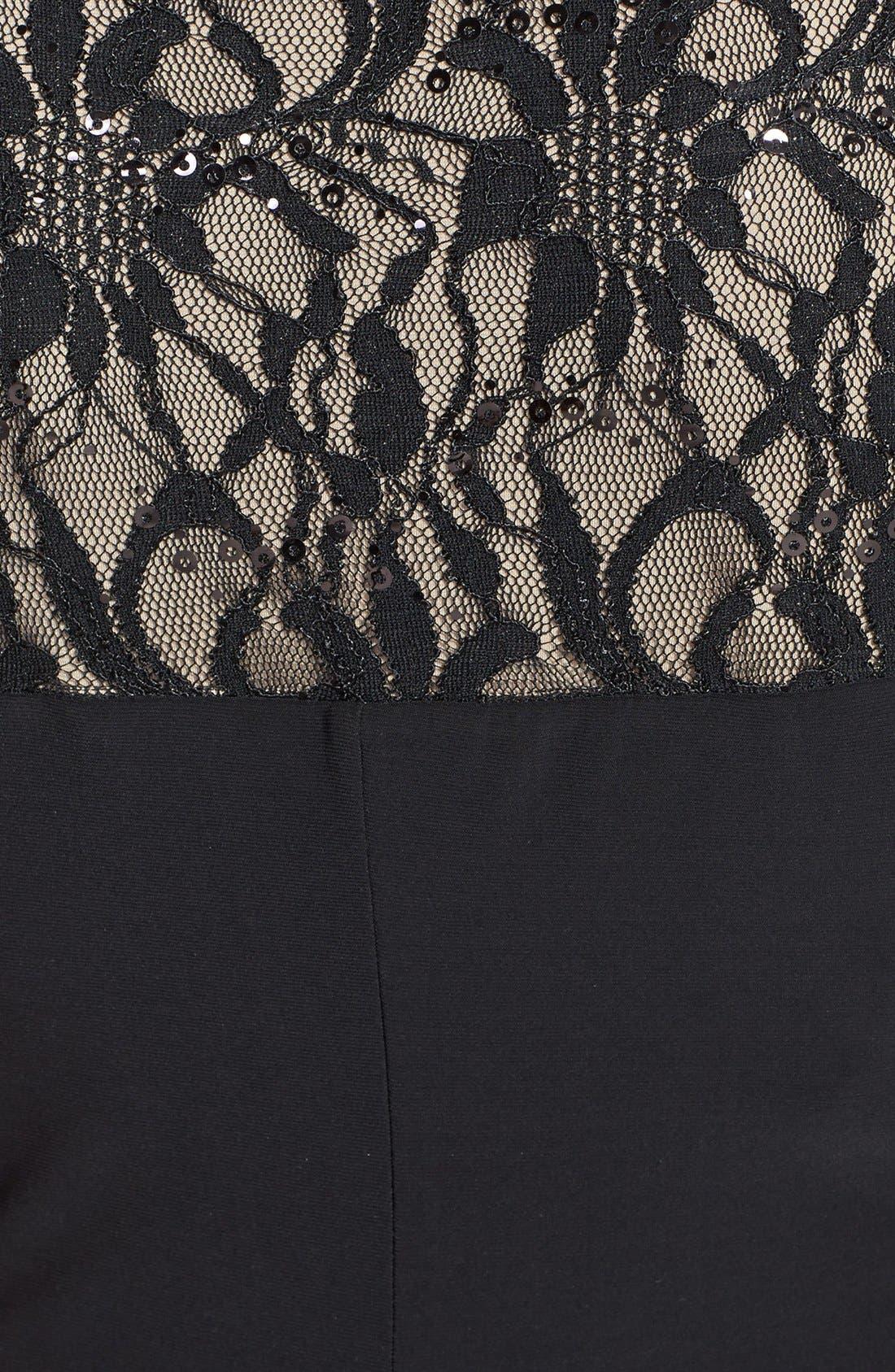 Alternate Image 3  - Lauren Ralph Lauren Lace & Jersey Sheath Dress