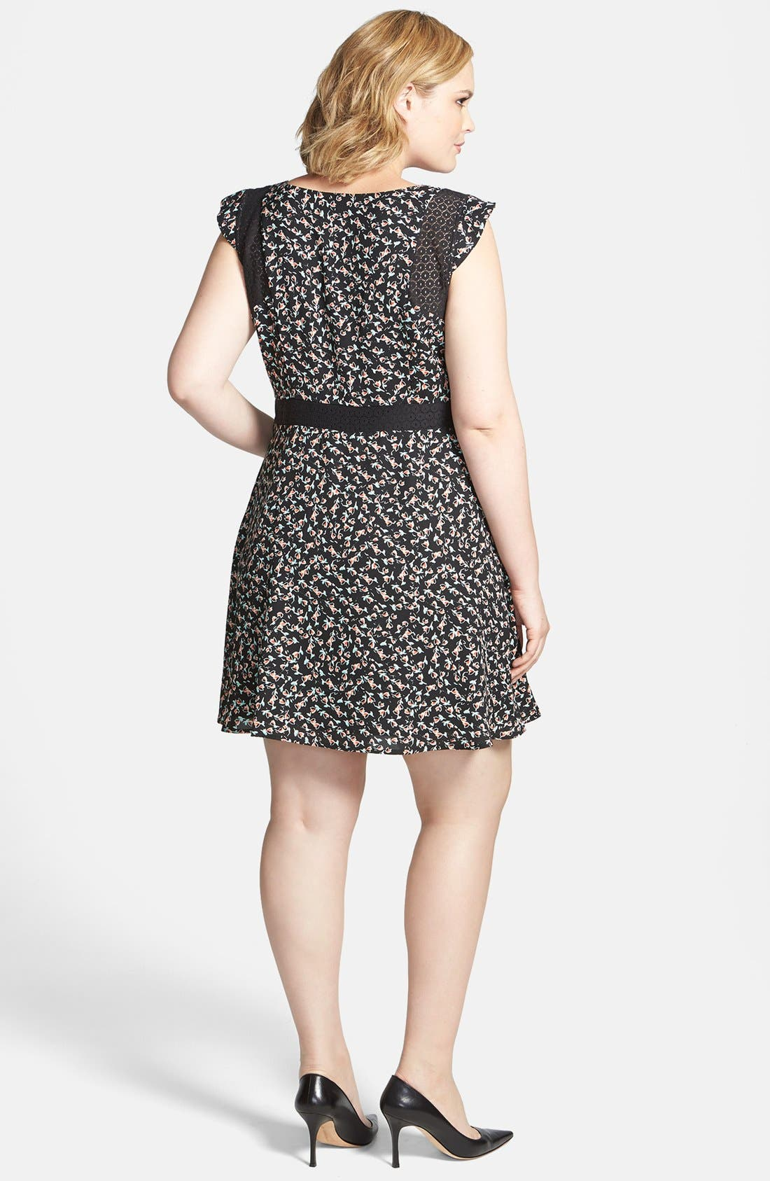 Alternate Image 2  - Jessica Simpson 'Dupree' Fit & Flare Dress (Plus Size)