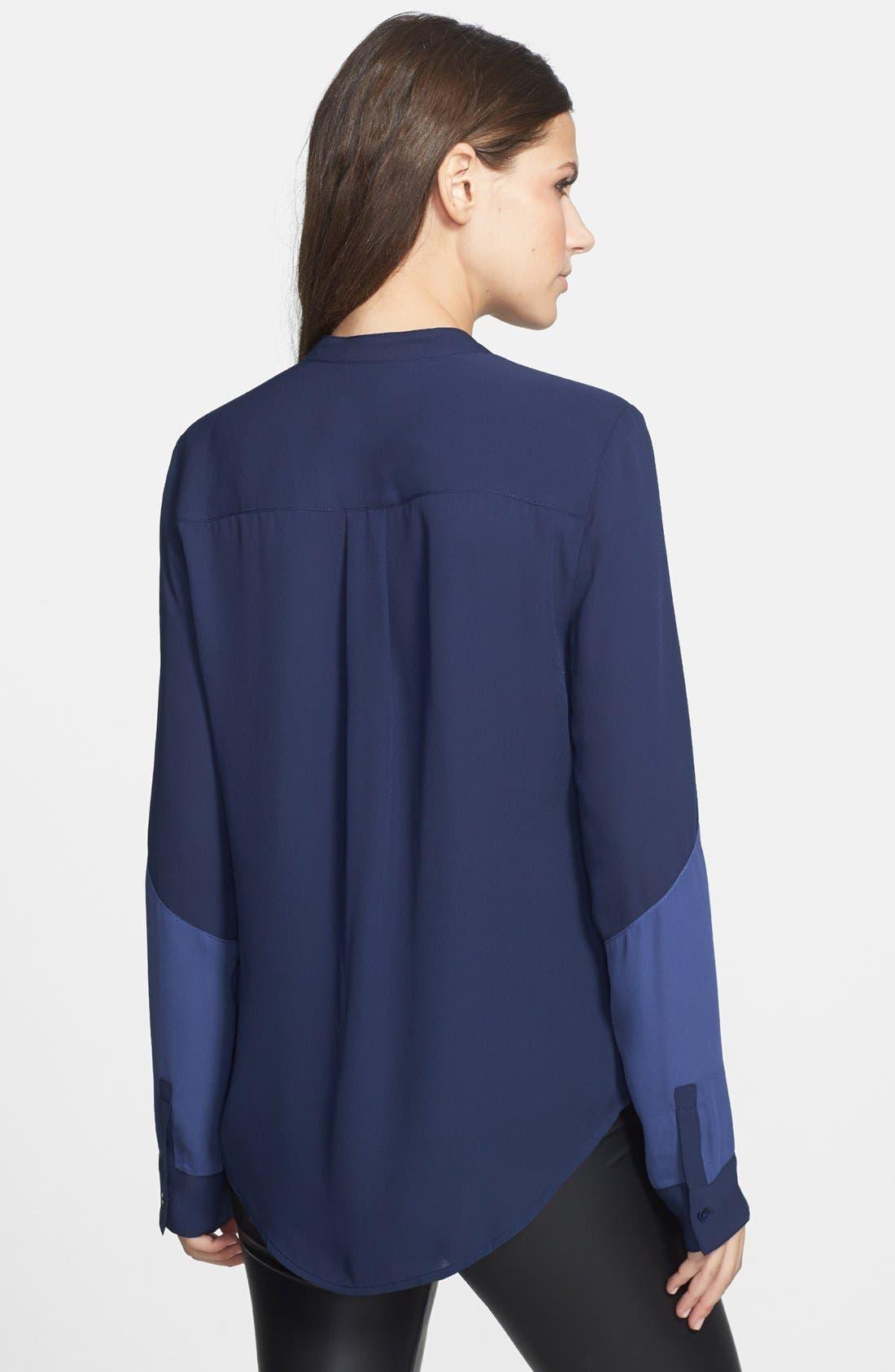 Alternate Image 3  - Leith Colorblock Chiffon Shirt