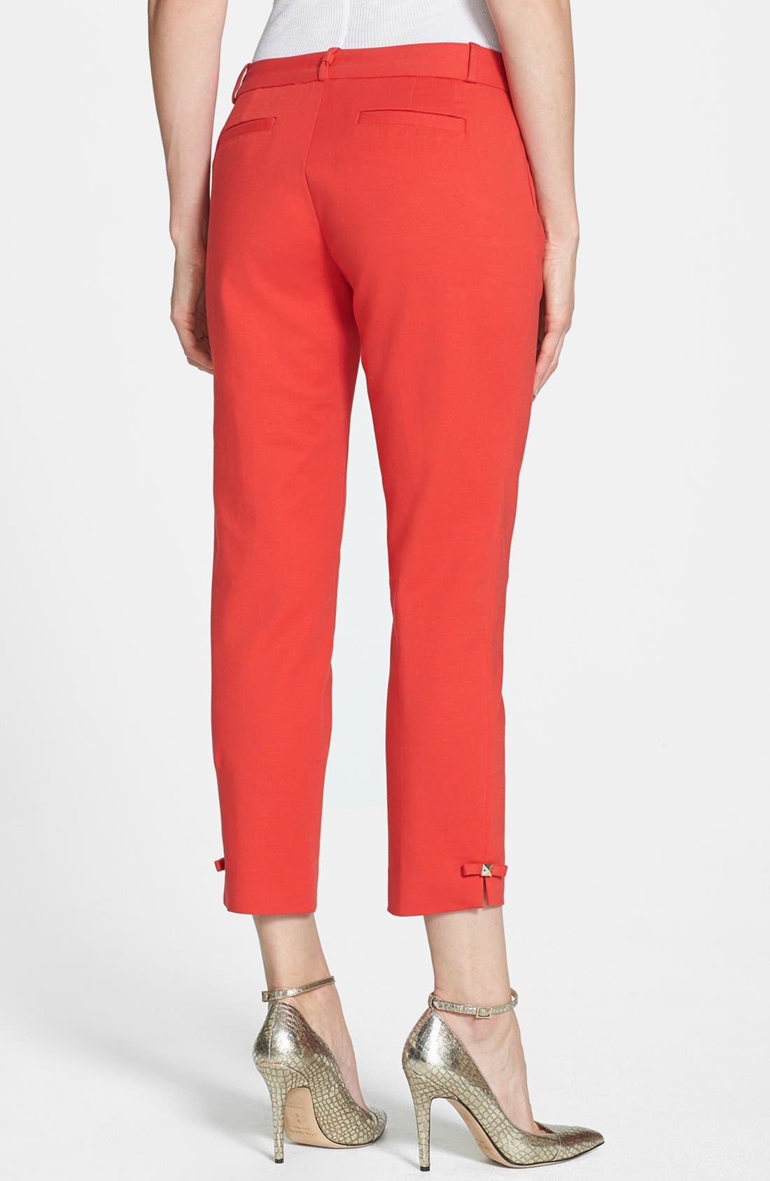 Alternate Image 2  - kate spade new york 'jackie' stretch cotton capri pants