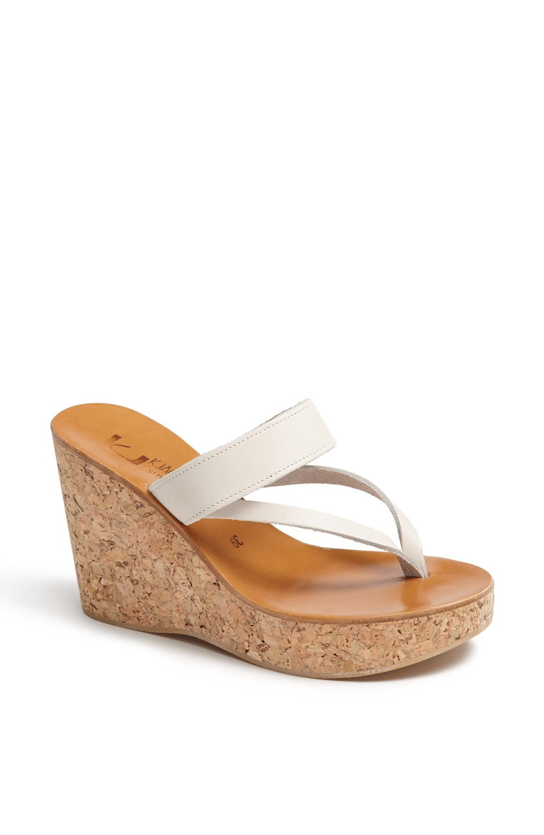 Alternate Image 1 Selected - K.Jacques St. Tropez 'Saturnine' Cork Wedge Sandal