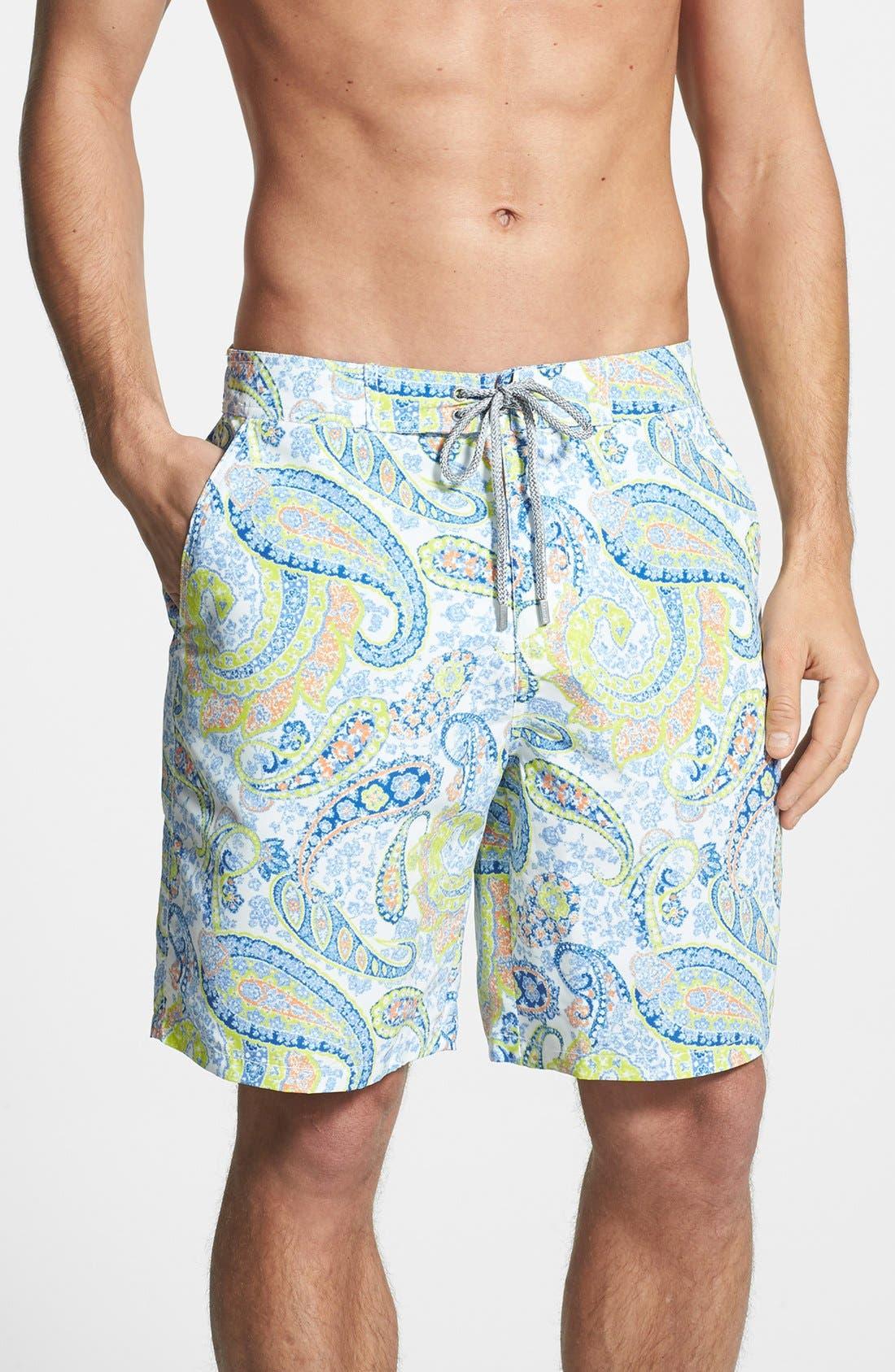 Alternate Image 1 Selected - Bugatchi Swim Trunks