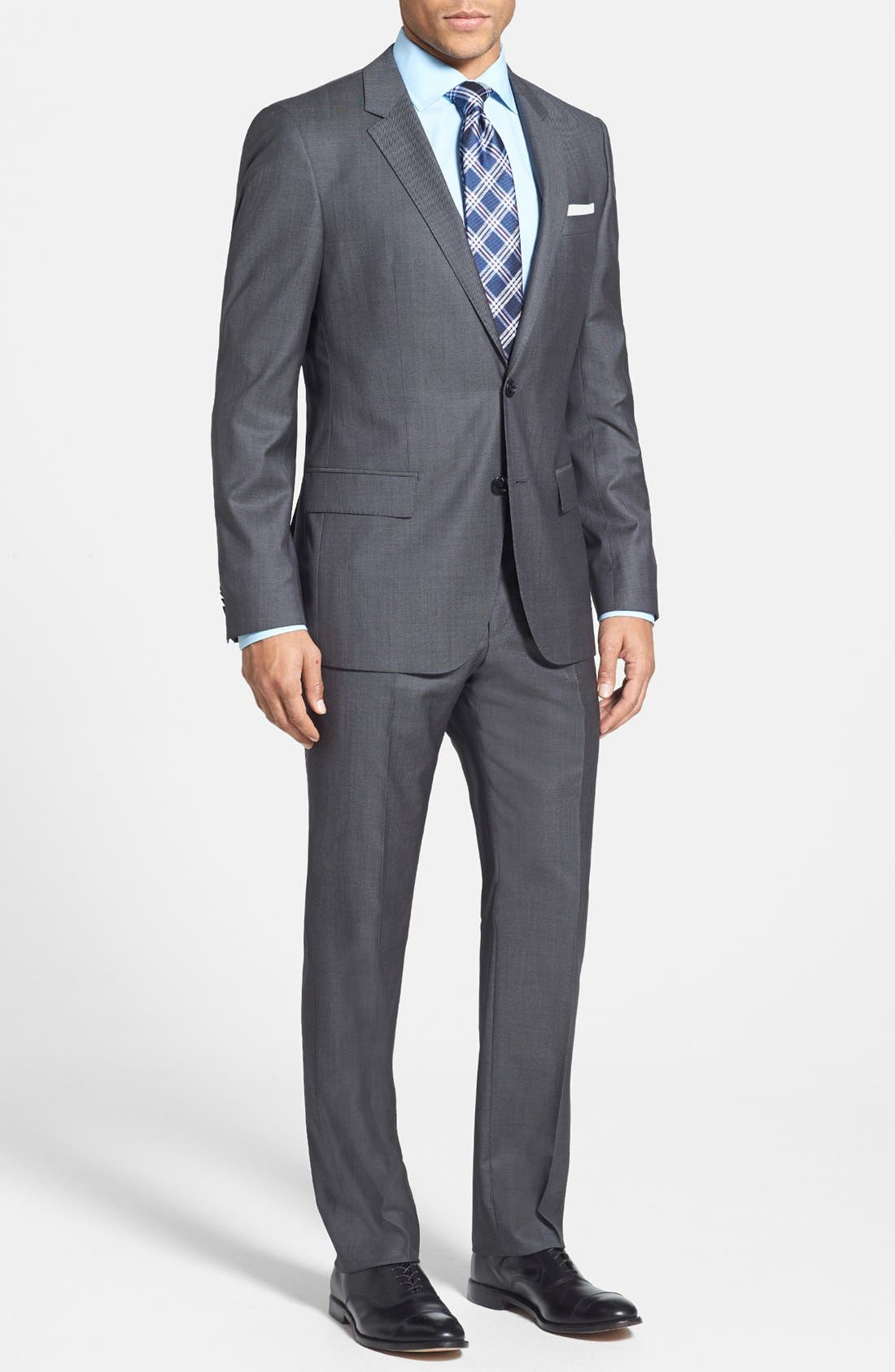 Alternate Image 1 Selected - BOSS HUGO BOSS 'Huge/Genius' Trim Fit Wool Suit