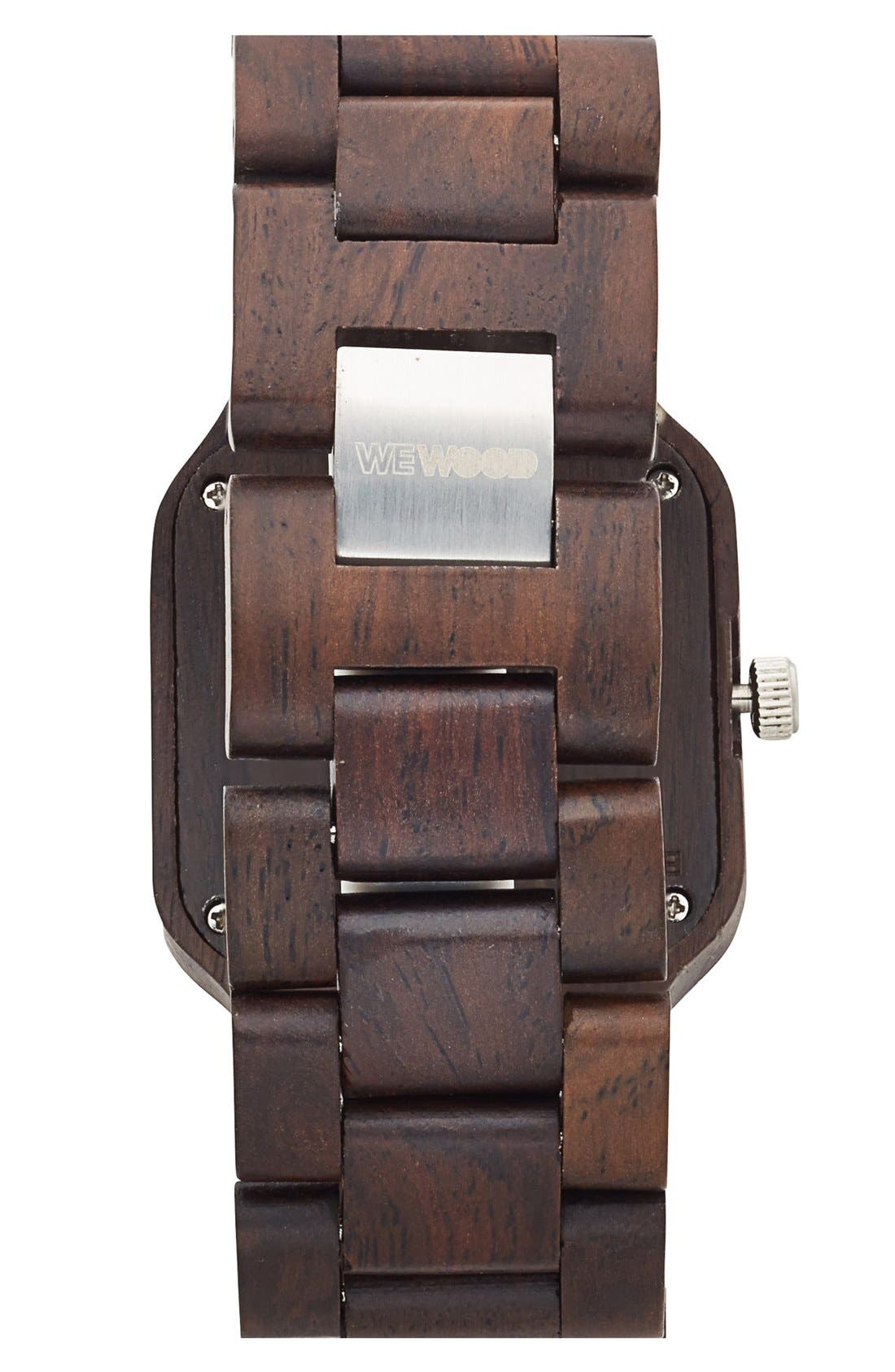 Alternate Image 2  - WeWOOD 'Metis' Square Wood Bracelet Watch, 38mm