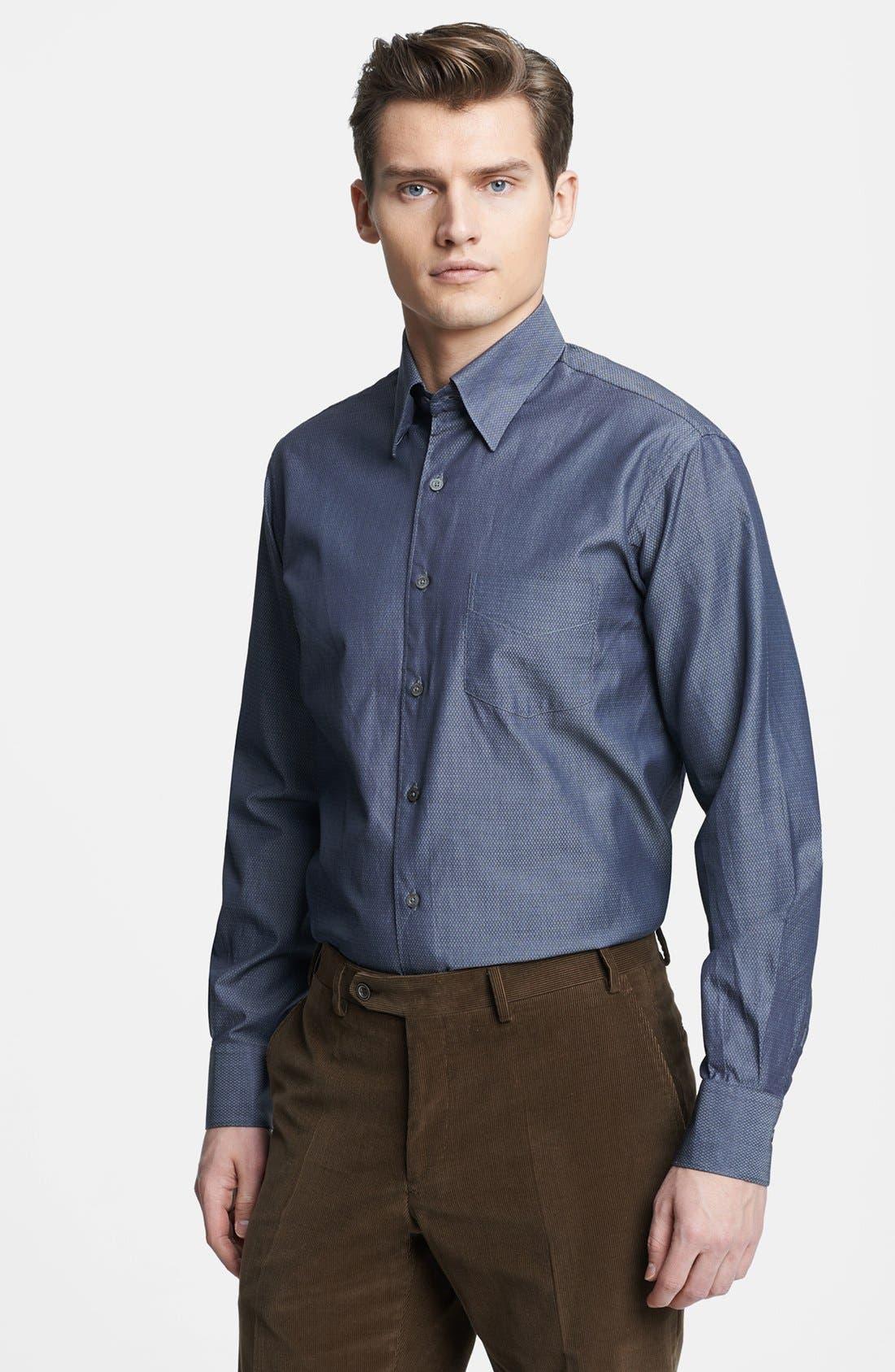 Main Image - Canali Regular Fit Italian Sport Shirt