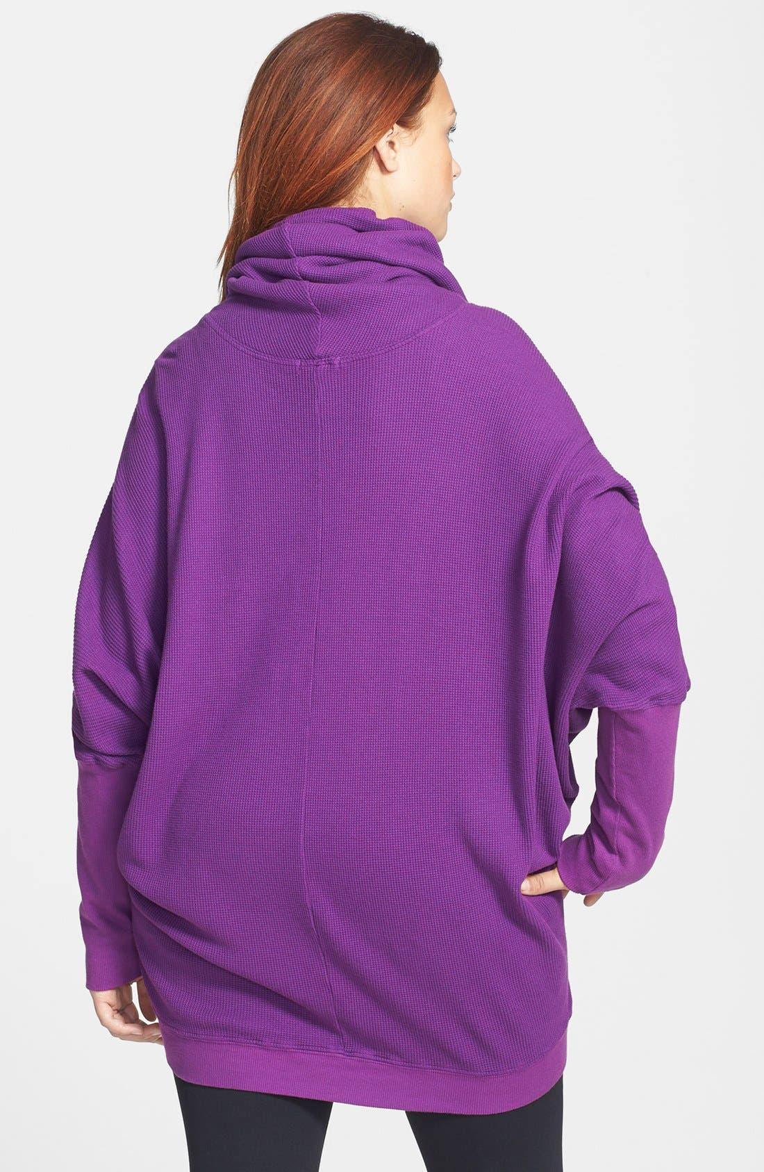 Alternate Image 2  - Pink Lotus Thermal Pullover (Plus Size)