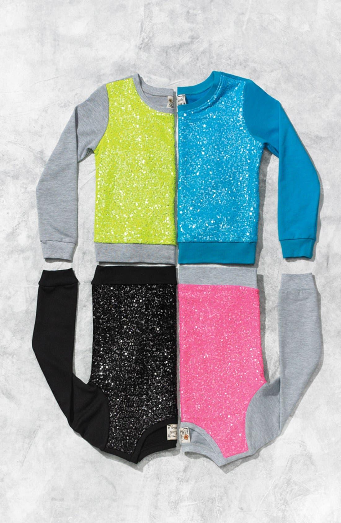 Alternate Image 2  - Miken Clothing Sequin Sweatshirt (Big Girls)