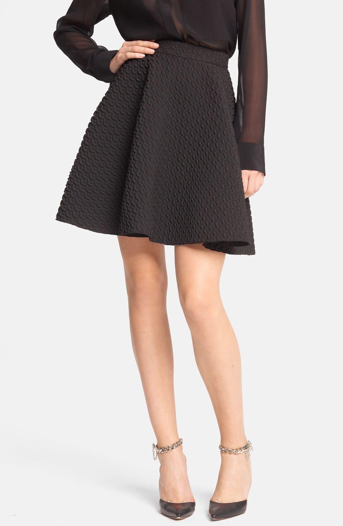 Main Image - Faith Connexion Pleated Neoprene Skirt