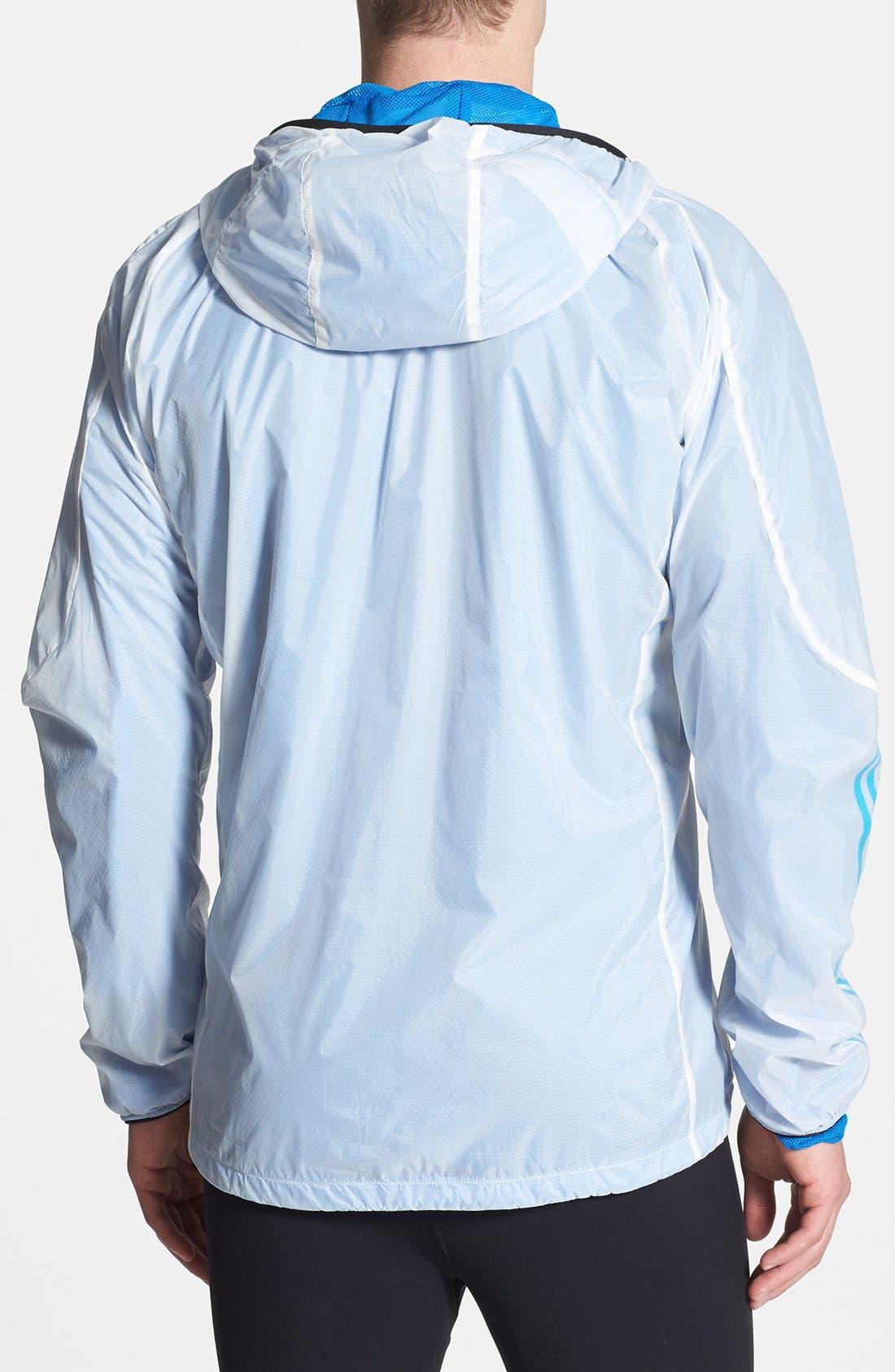 Alternate Image 2  - adidas 'Terrex - Swift Wind' CLIMAPROOF® Hooded Wind & Water-Resistant Jacket