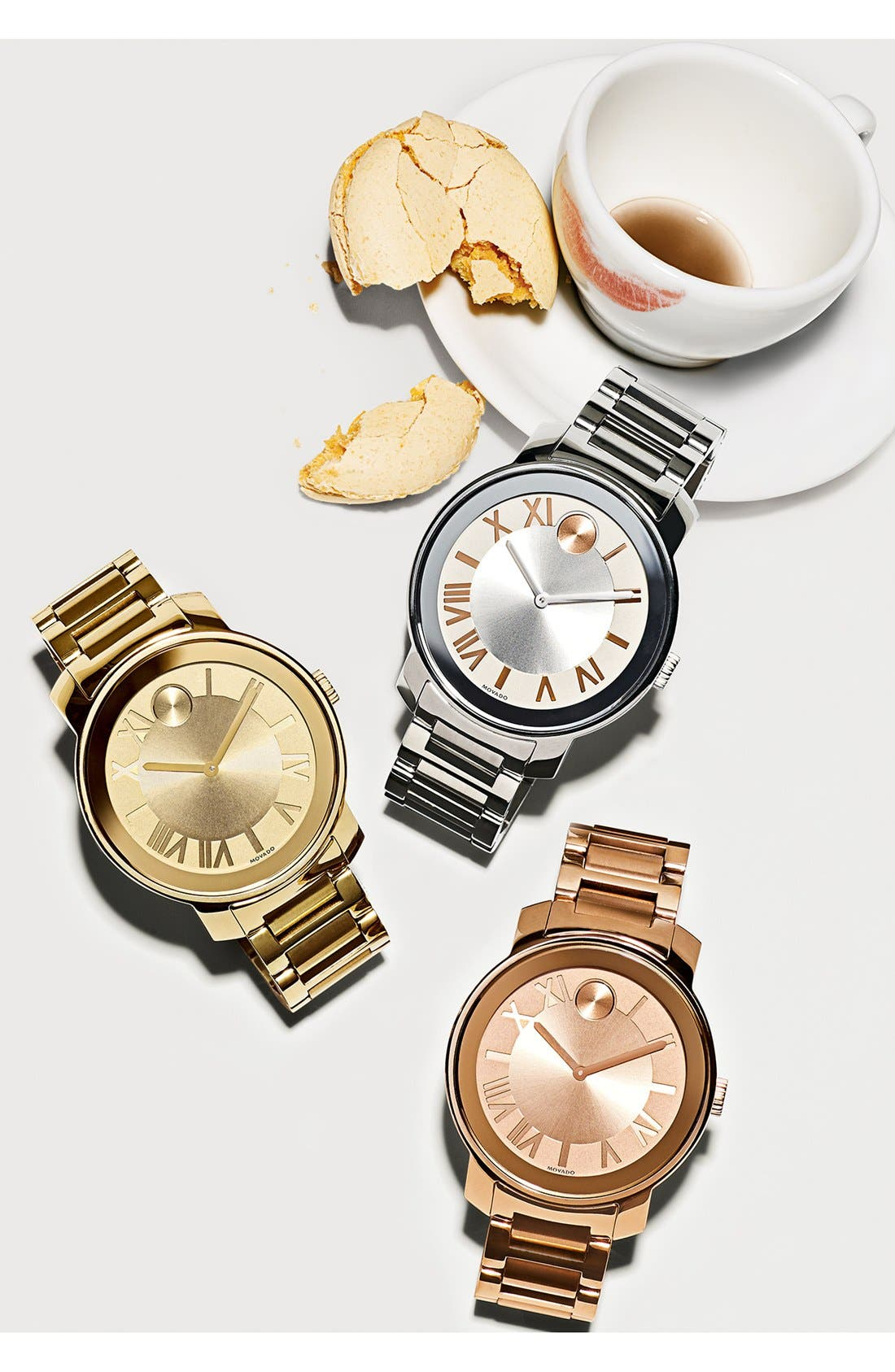 Alternate Image 2  - Movado 'Bold' Roman Numeral Index Bracelet Watch, 39mm