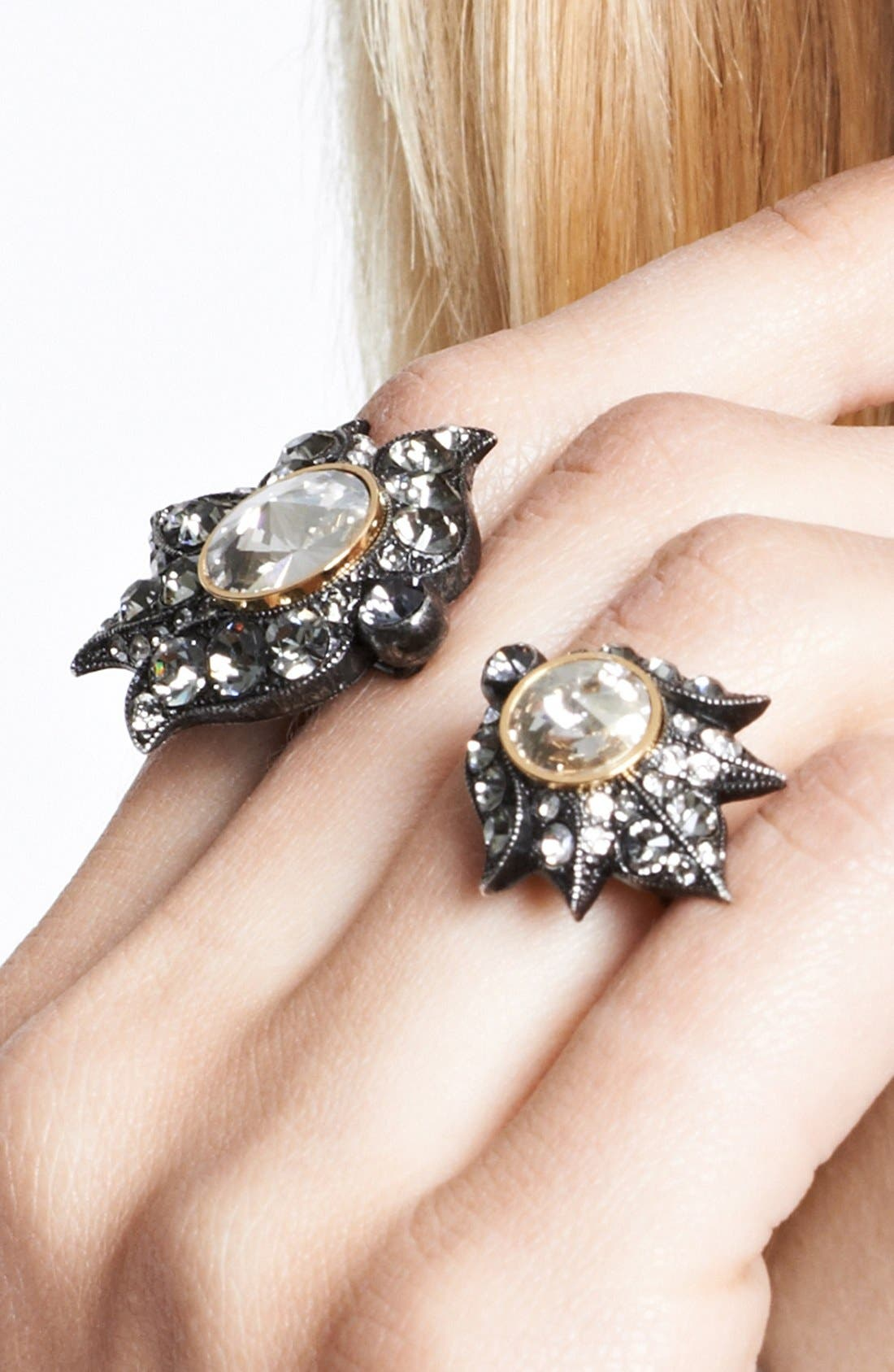 Alternate Image 2  - Lanvin 'Blanche' Crystal Double Ring