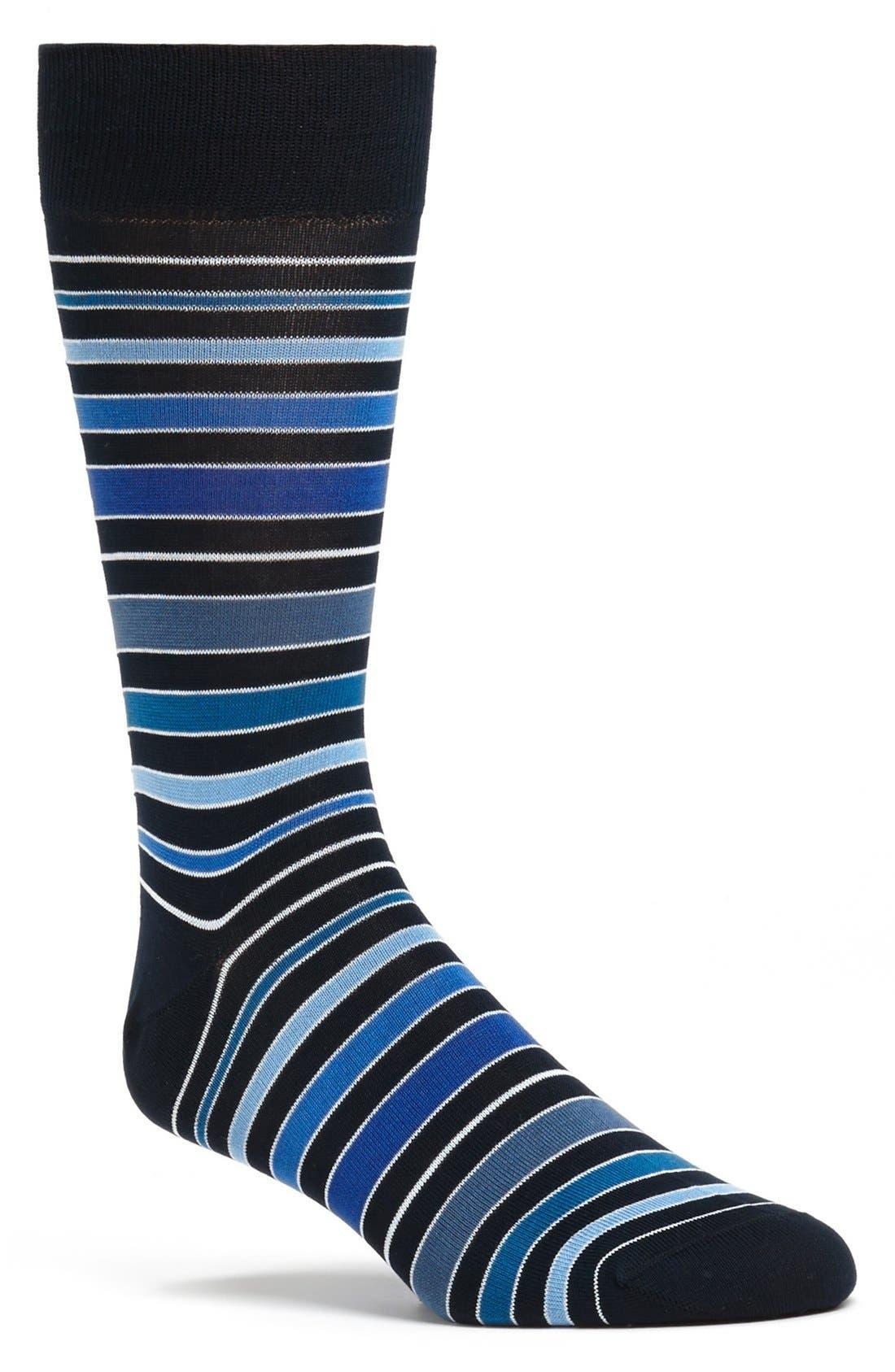 Main Image - Bugatchi Stripe Socks