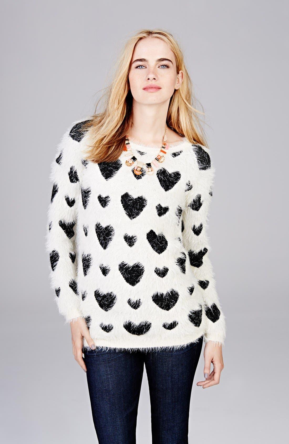 Alternate Image 5  - Robbi & Nikki Textured Heart Sweater