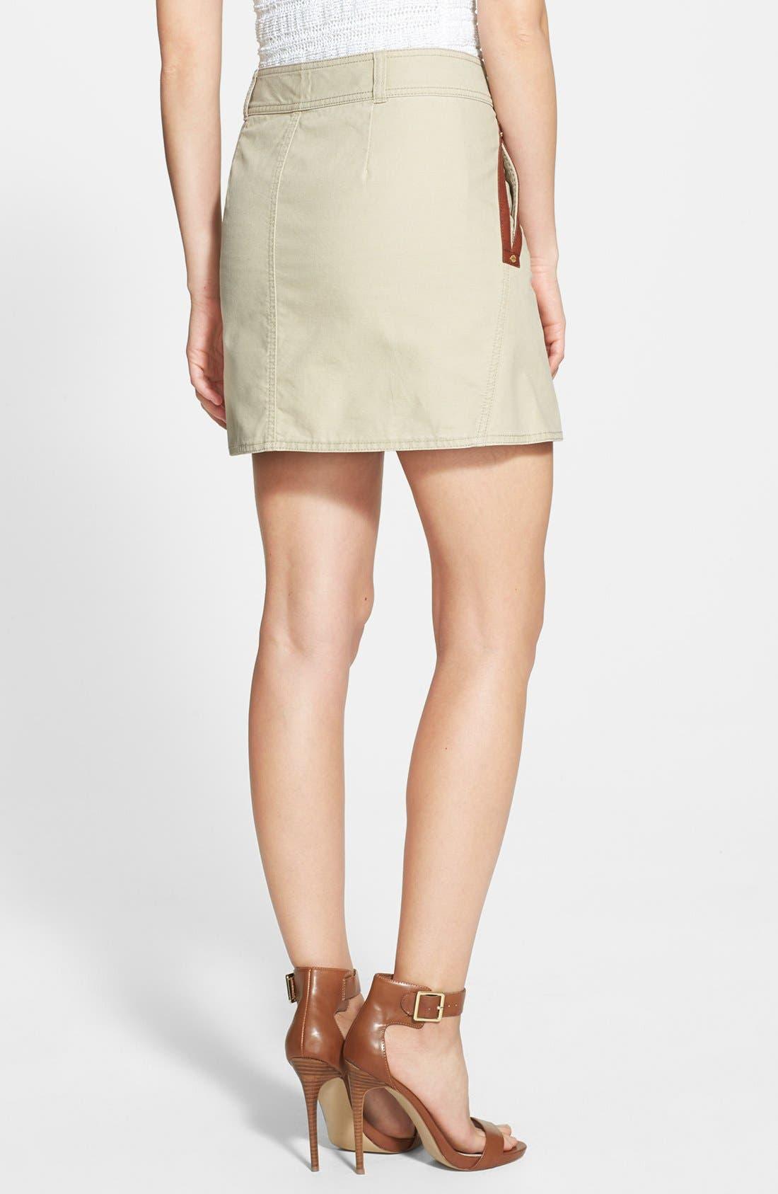 Alternate Image 2  - MICHAEL Michael Kors Asymmetrical Zip Cotton Twill Skirt