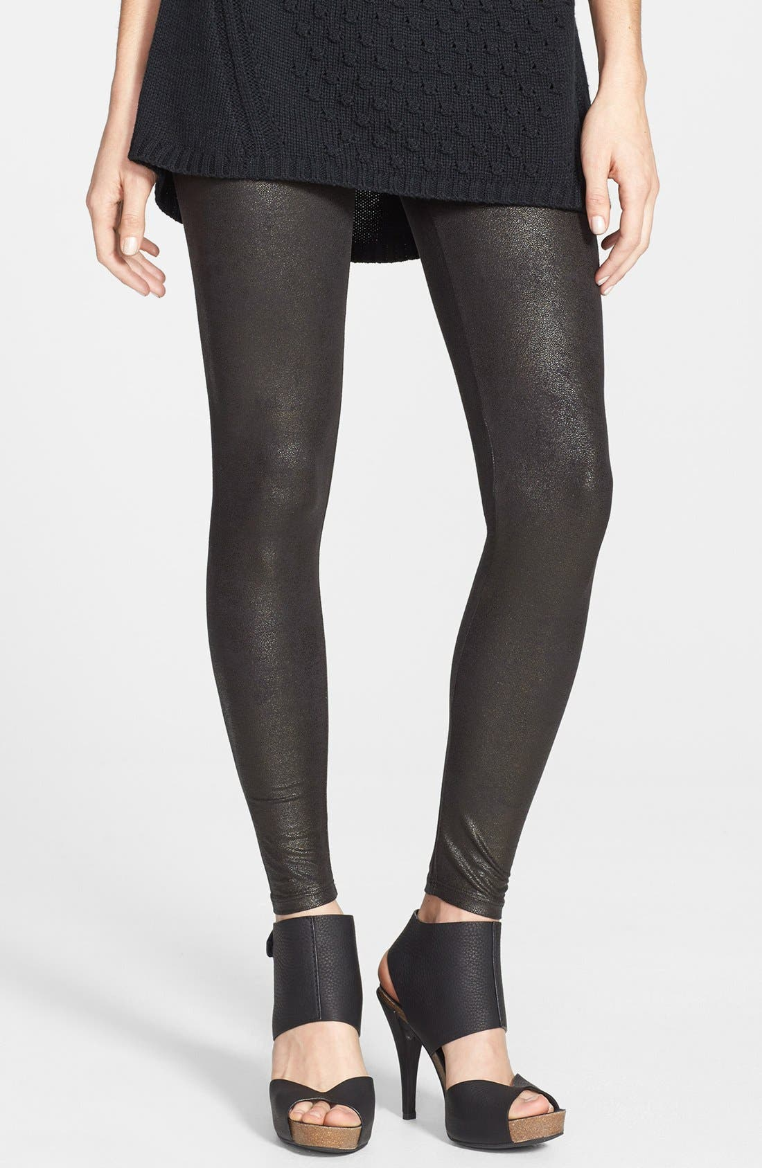 Alternate Image 1 Selected - Yummie by Heather Thomson Faux Leather Shaper Leggings