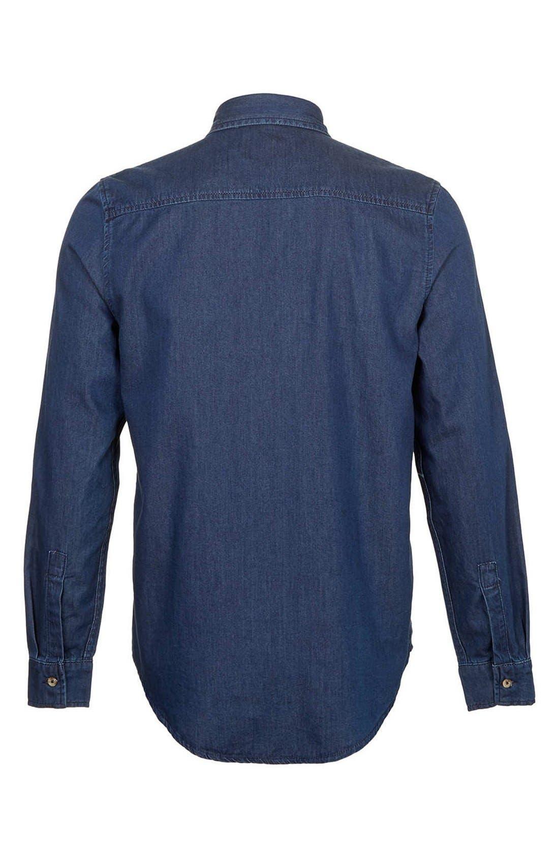 Alternate Image 3  - Topman Denim Shirt