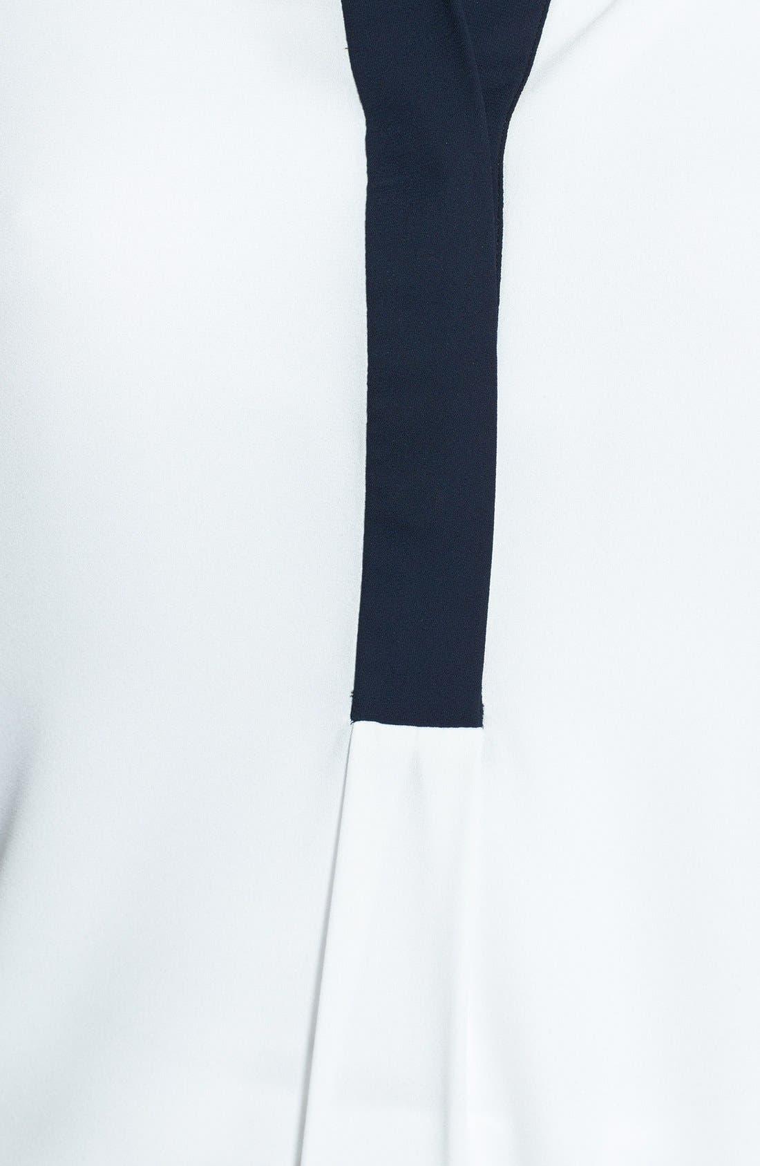 Alternate Image 3  - Vince Camuto Contrast Trim Roll Sleeve Blouse (Regular & Petite)