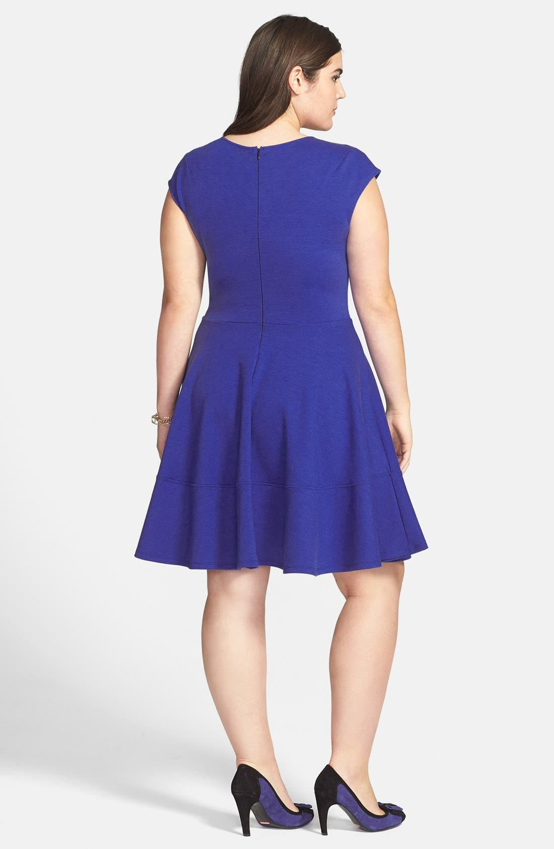 Alternate Image 2  - Eight Sixty Seamed Fit & Flare Dress (Plus Size)